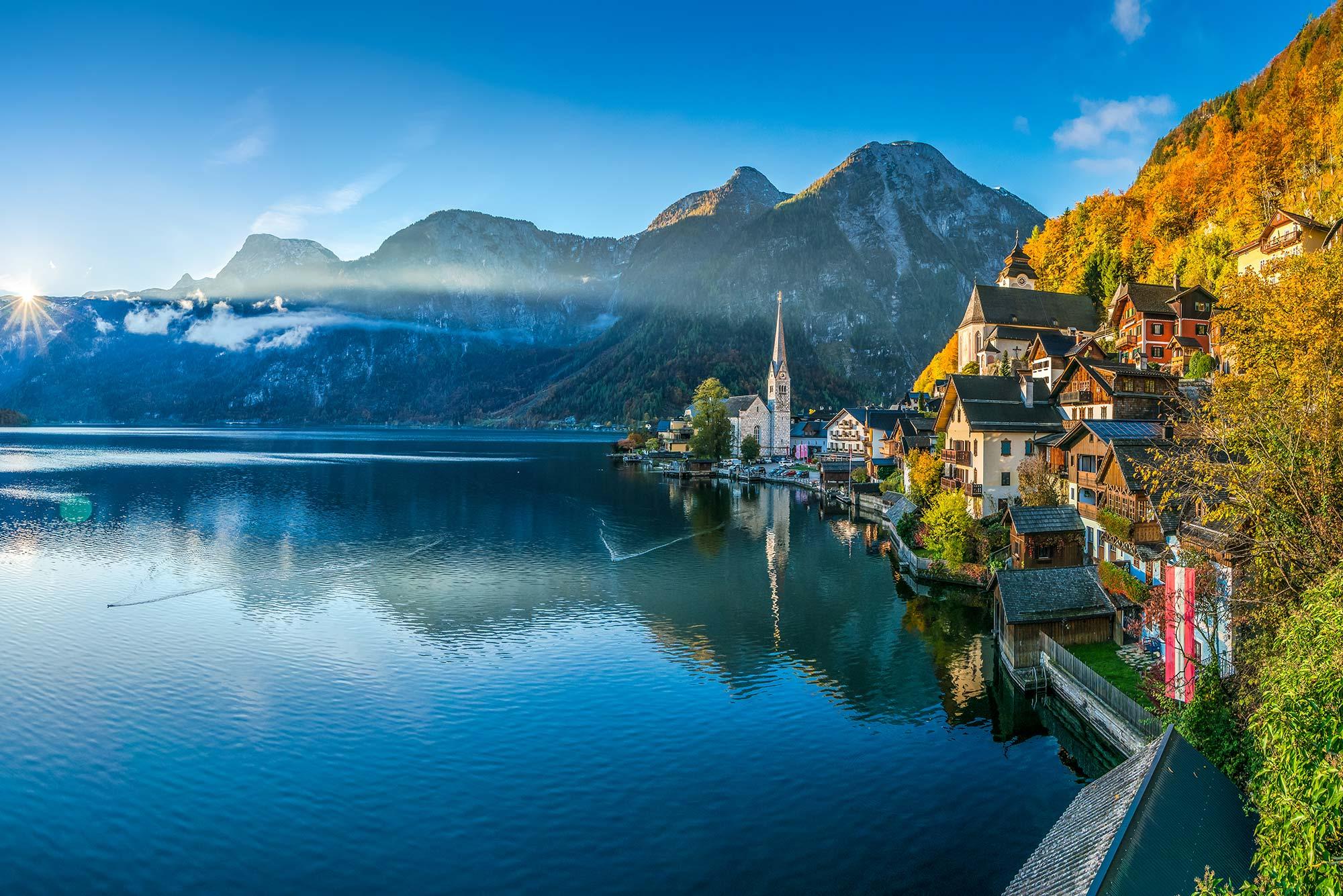 Lake Halstatt in the Salzkammergut, Austria.
