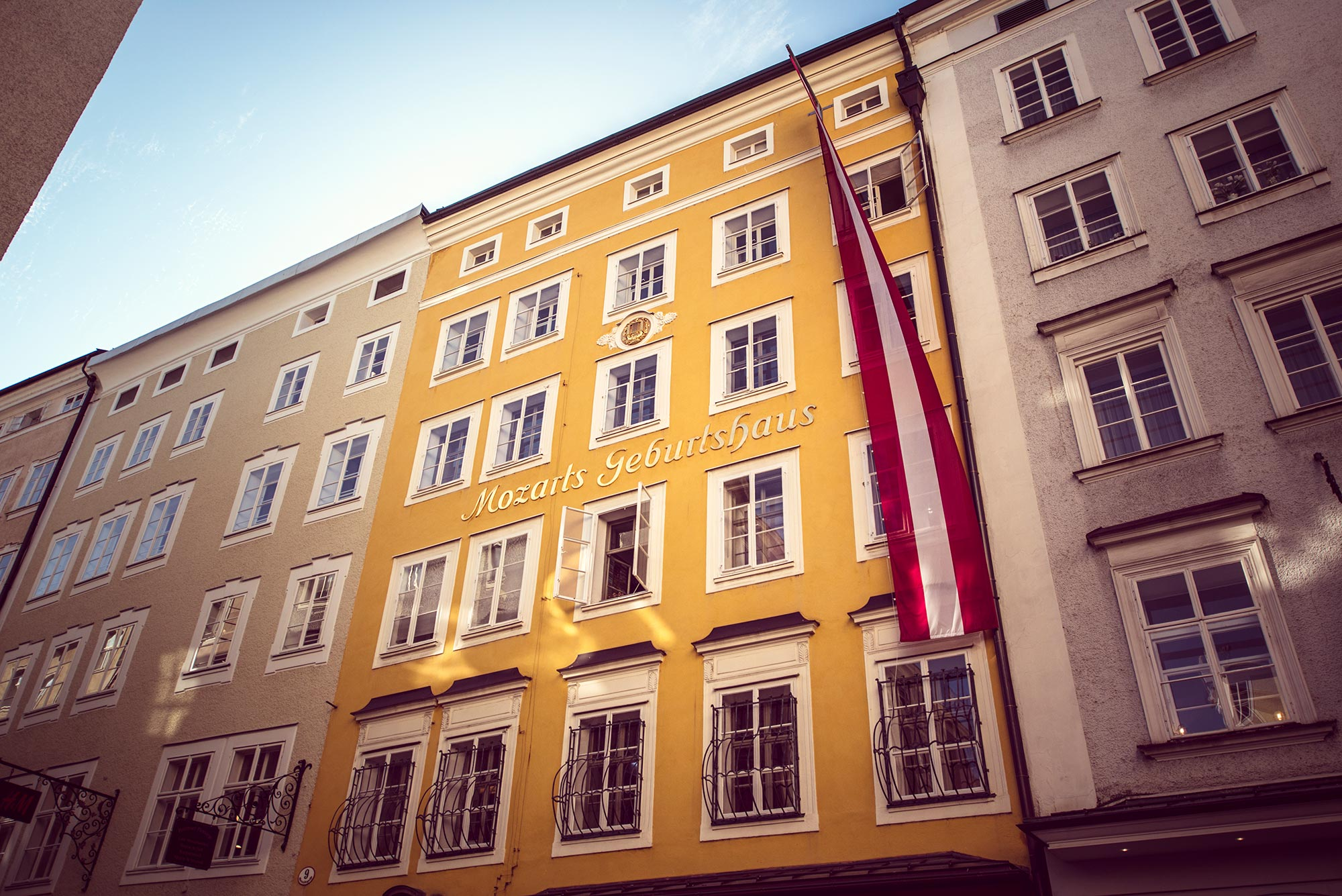 Mozart's Birthplace in Salzburg, Austria.