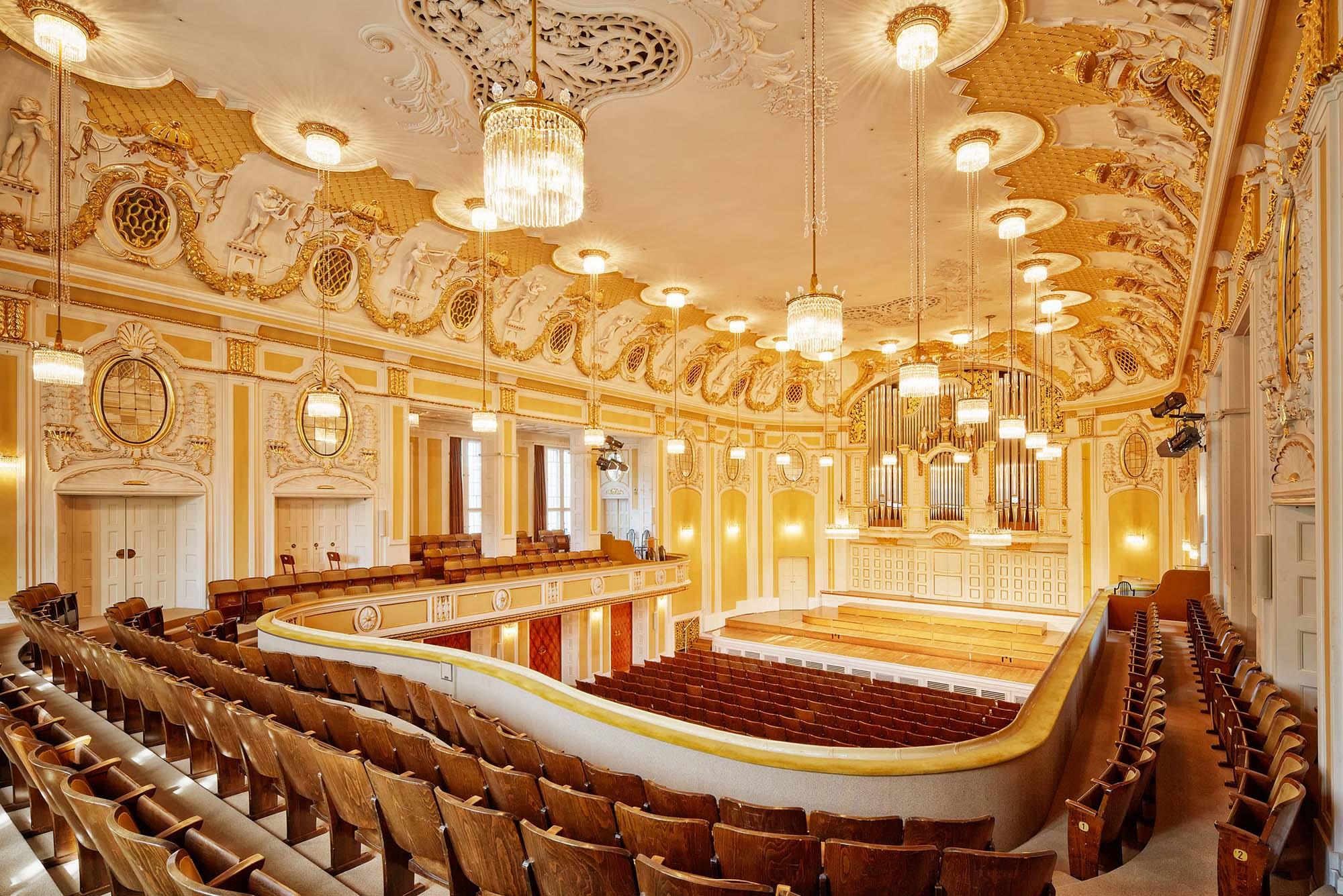The Grand Hall of the Stiftung Mozarteum.