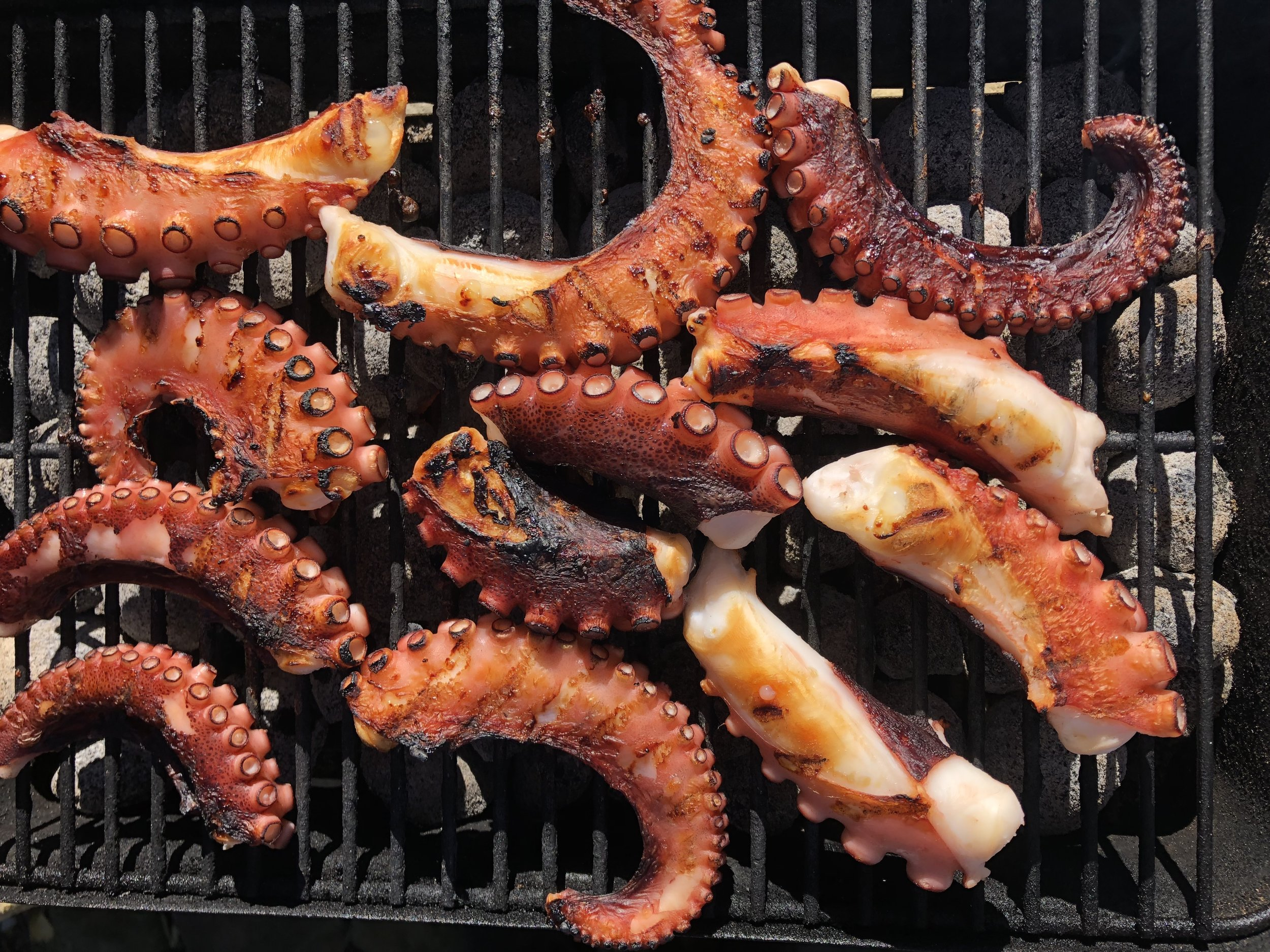 Grilled octopus...yum