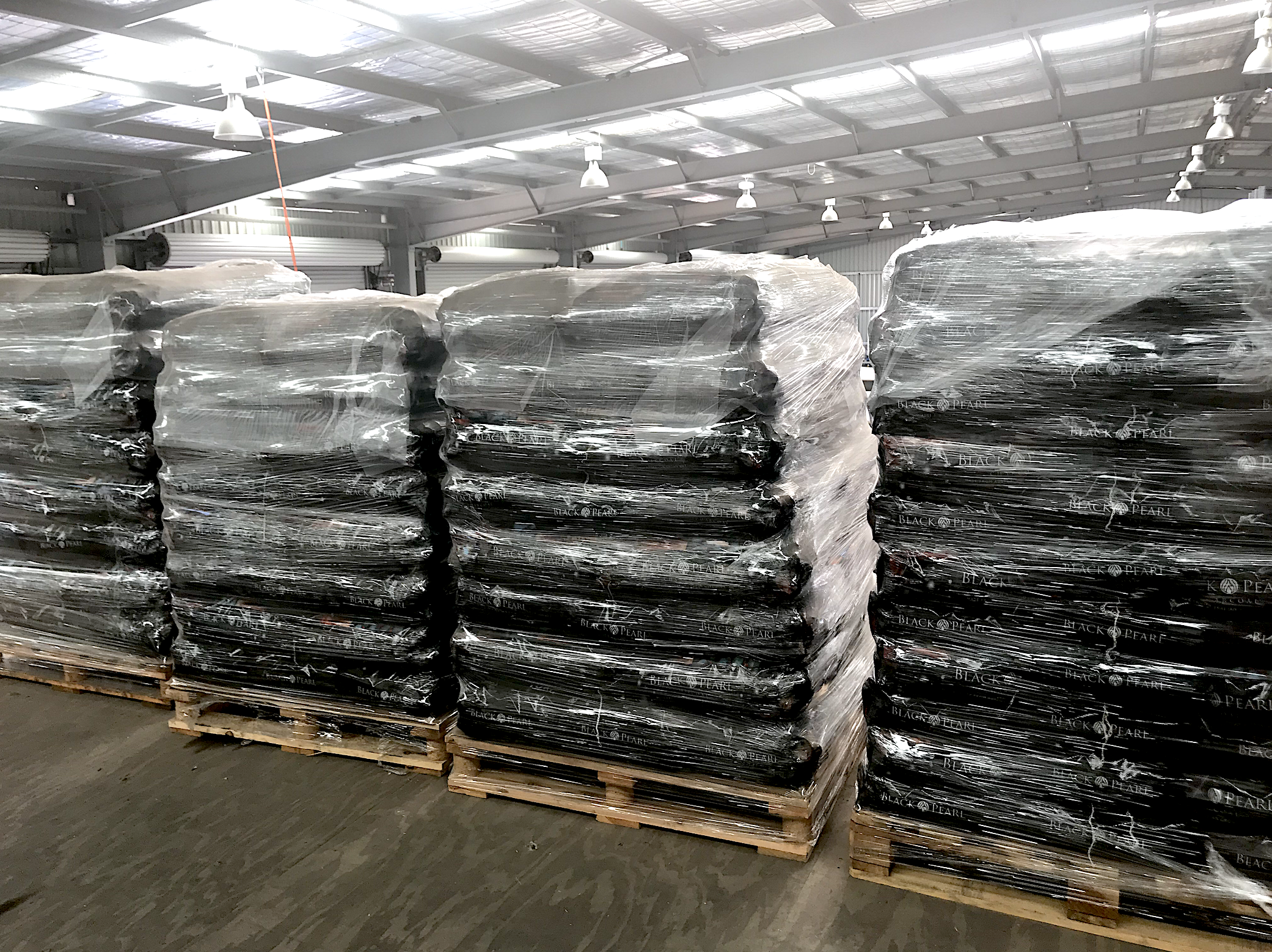 BPC pallets in the warehouse