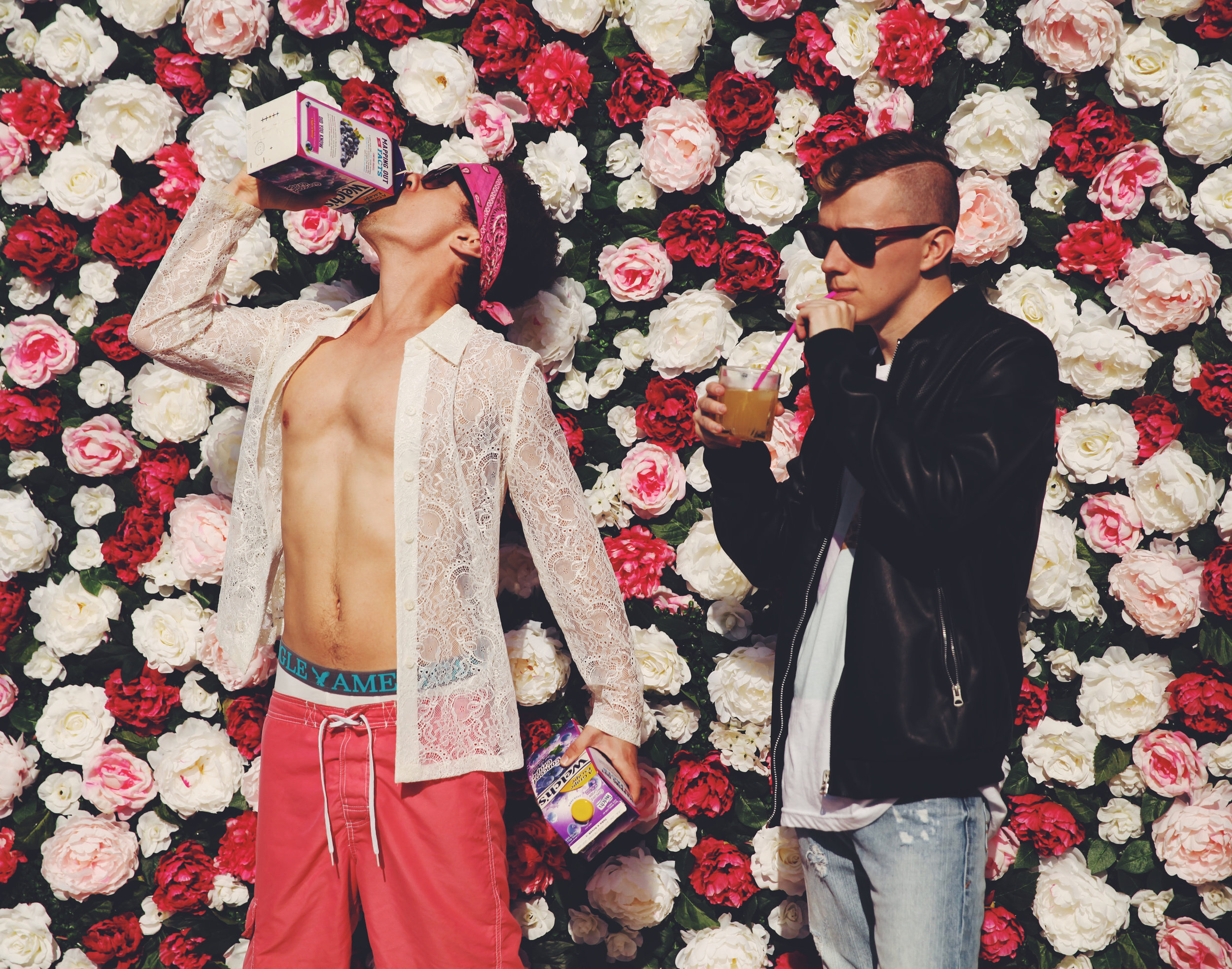 """PRTTY BOYS   Pop and Hip-Hop duo PRTTY BOYS are comprised of rapper & producer Alexander """"Spadez"""" Martinez alongside vocalist & producer Johnie B. In May 2018 they released their debut album """"The Juice Factory."""""""