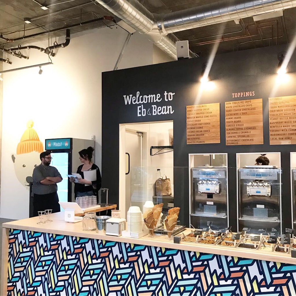Eb and Bean is now serving up hand-made artisanal frozen yogurt in its new Northwest Portland location at Àlmr on NW 21st Avenue.