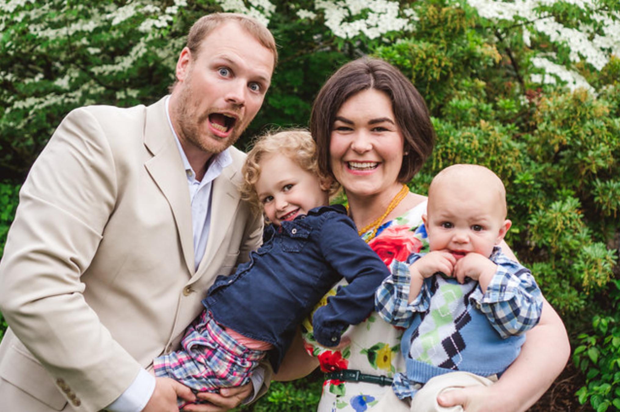 Rebecca's family. Photo credit  Sikora Photography .