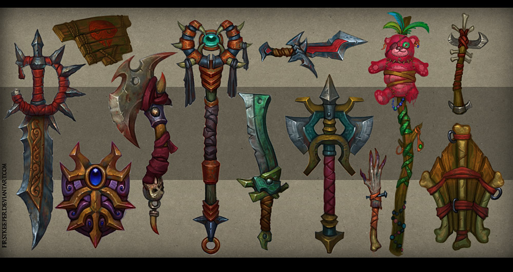World of Warcraft Weapon Concept Art