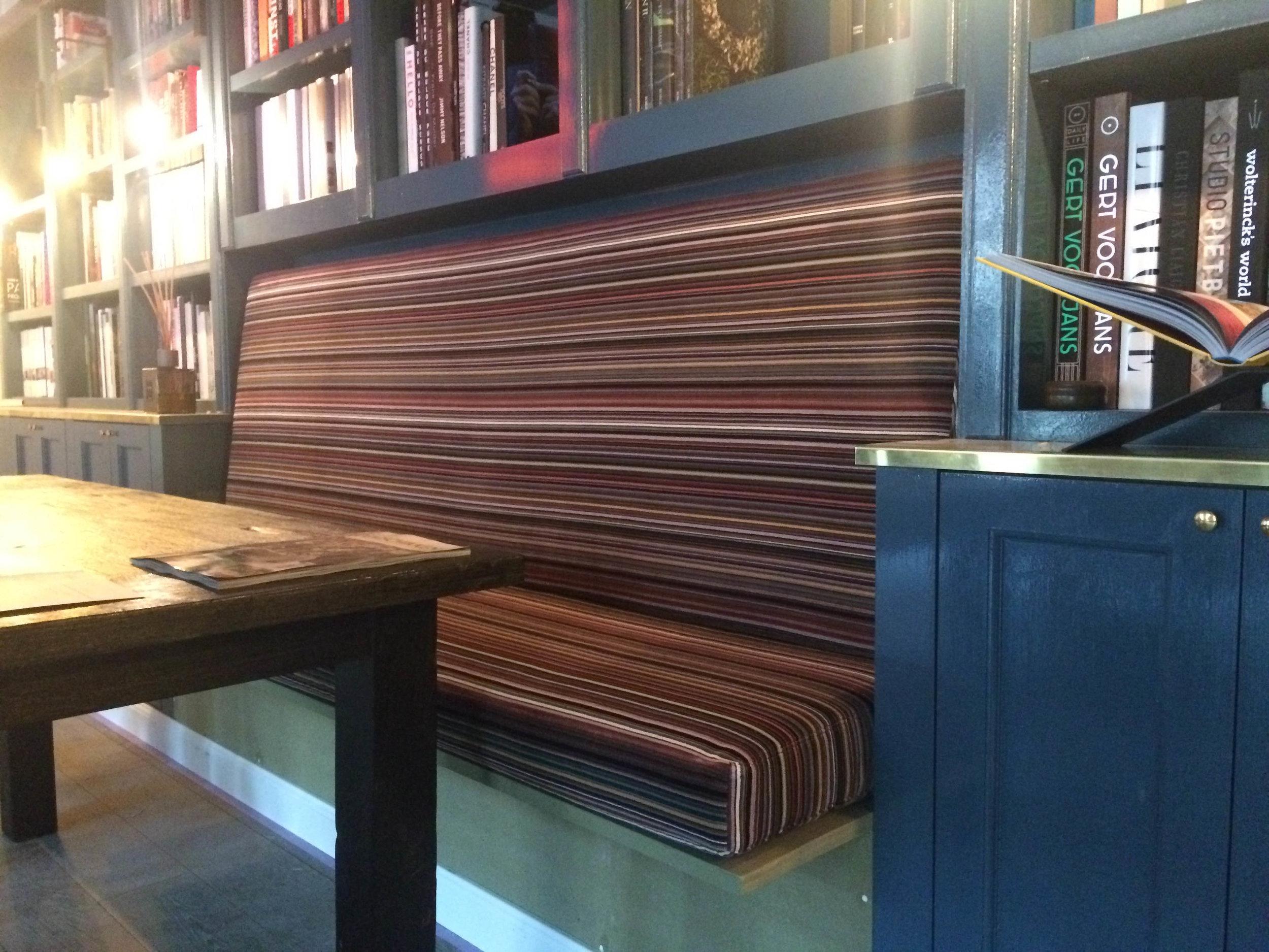 Bespoke library sofa, 2018, Belgium