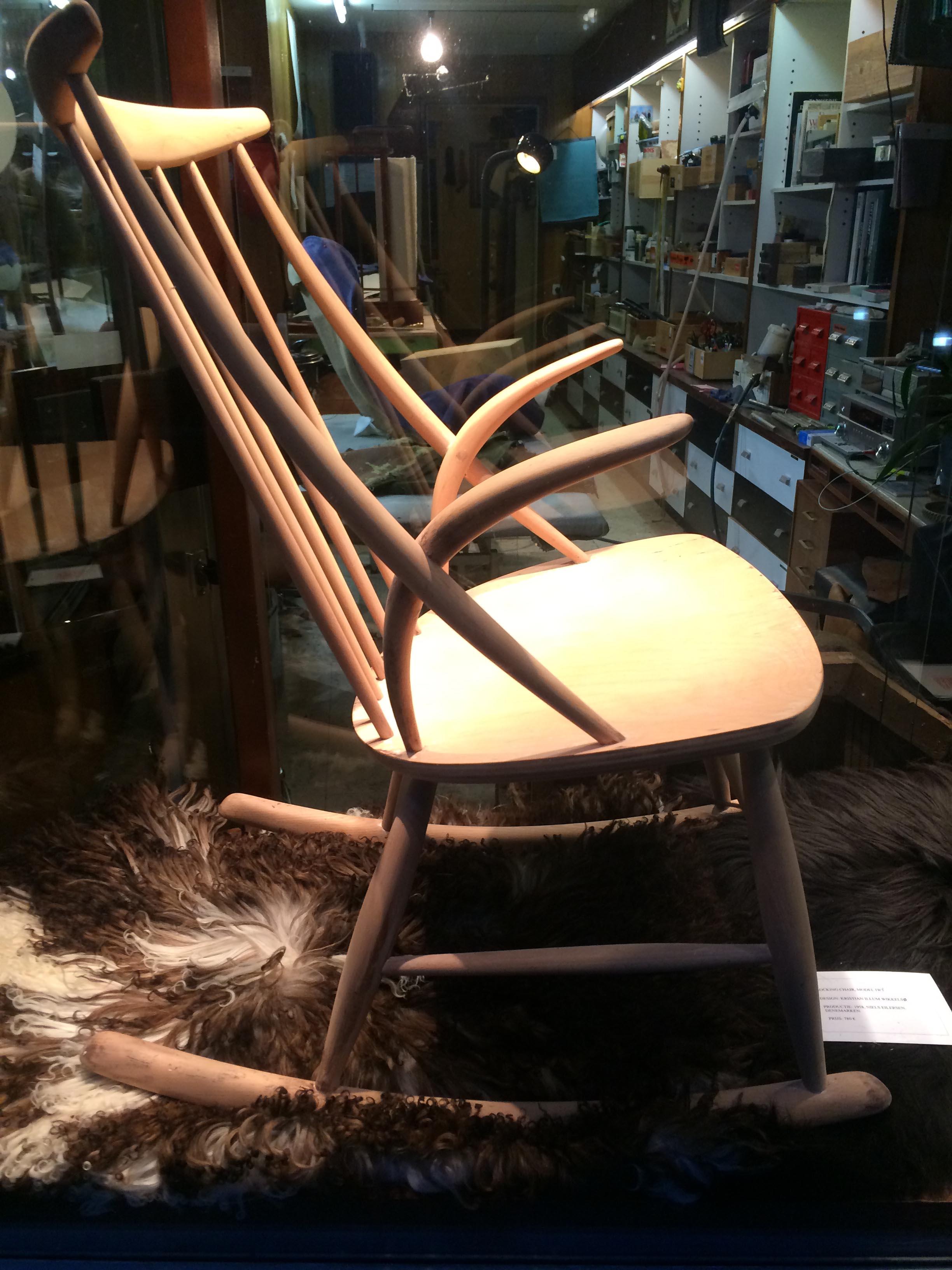 Rocking chair, Illum Wikkelsø, 1958, Denmark