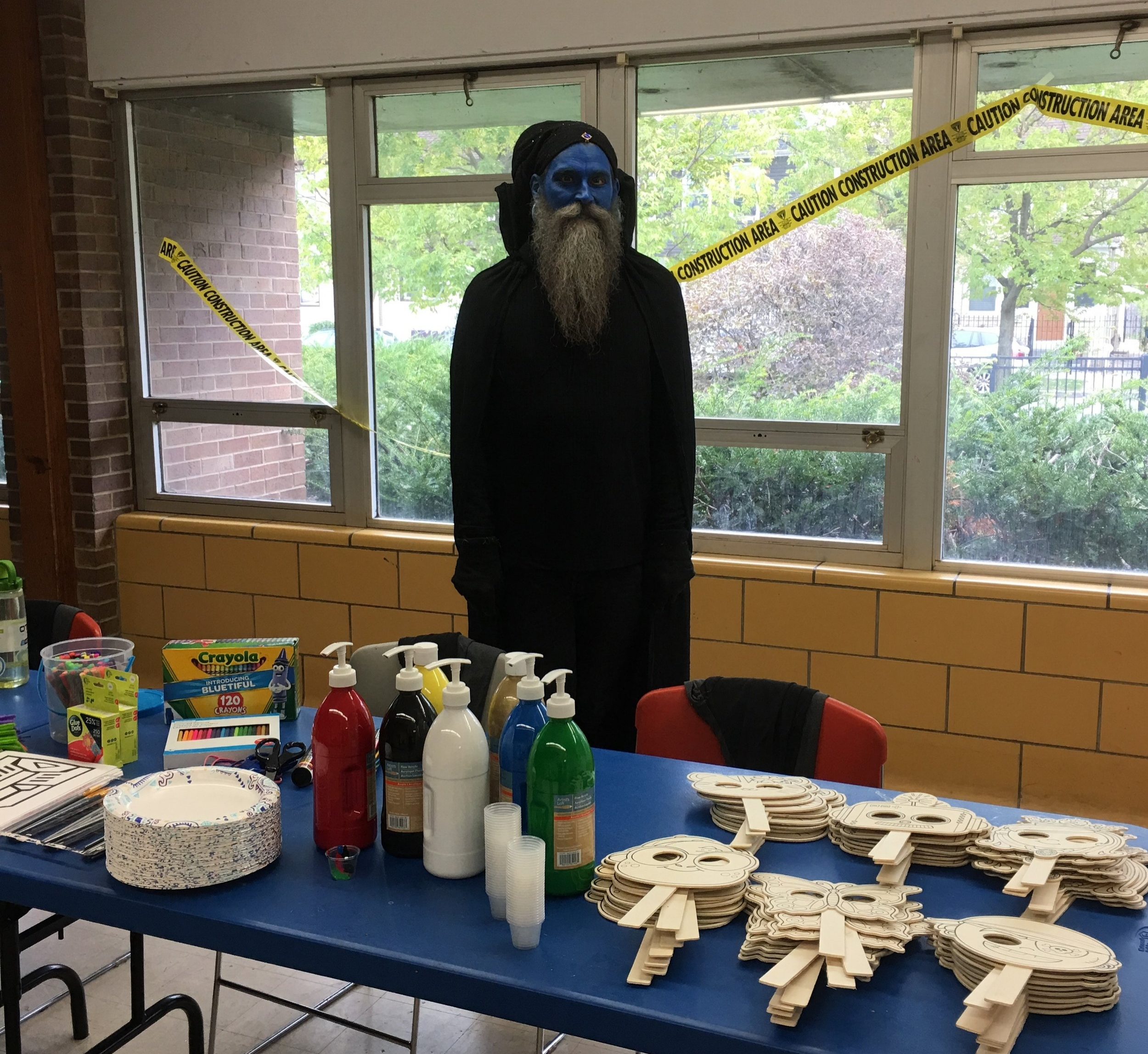 The Wizard awaits at Pottawattomie's Trunk or Treat day.