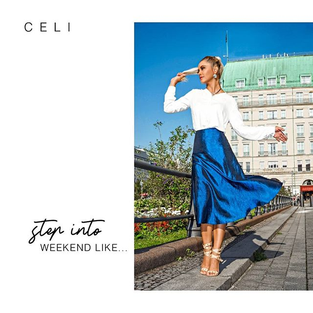 💙Step into Weekend like...a godess! In our exclusive Skirt Mare! 🌊 🕑 Last weekend to get Med Rock Mare🌊Design of the Week 📱 in @celi.fashion _ _ _ _ 20% OFF 📣 From 149€ to 119,20€  www.alineceli.com 🔸#alineceli  Discover what is New in the link in bio. @celi.fashion (📸:@suzy_edward ) . . . . . .  #blue💙 #outfits #trueblue  #berlinerdom #influencermodel #influencer #ig_deutschland #fashioninfluencers #germany #suzyedward #instaberlin #visit_berlin #alineceli #celifashion #designoftheweek #bluesky #skylovers #quartier206 #gallerieslafayette #stepintoyourpower #stepintoelegance #stepintoyourgreatness