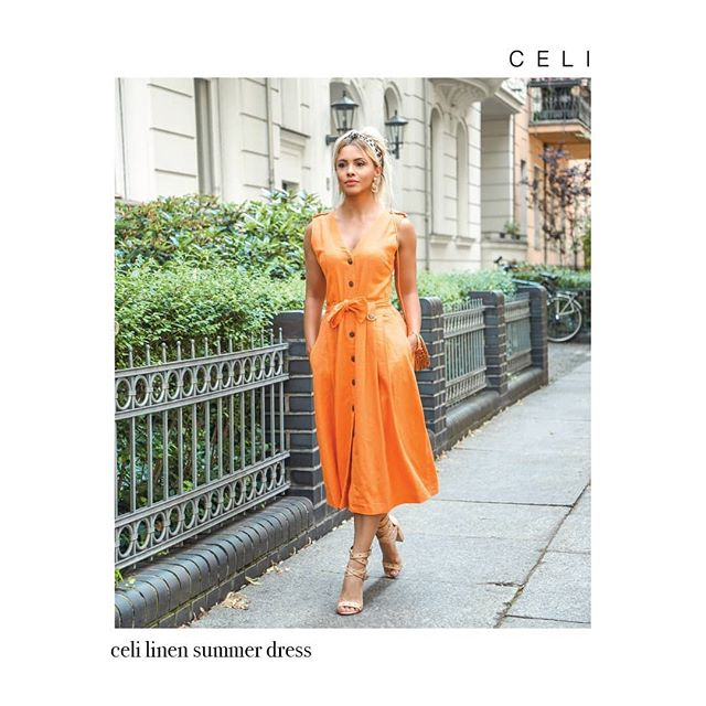 🍊A Linen Dress Is the Next Best Thing to Being Naked🍑 Celi Linen Dress ☀️On summer days when the temperature breaks 90 degrees💧, getting dressed is a game of figuring out how to leave the house with the least amount of fabric touching your skin. Paloma Dress is the perfect choice💯  Design of the Week 📱 in @celi.fashion _ _ _ _ 20% OFF 📣 From 179€ to 143,20€  www.alineceli.com 🔸#alineceli  Discover what is New in the link in bio. @celi.fashion (📸:@suzy_edward ) . . . . . . #linen #cotton #stitching #printed  #instastore #fabric #lady #ladies #woman #summertime #instamorning #gettingready #outfitoftheday #lookoftheday #luxurylifestyle #bossbabe #bosslady #entrepreneurlife #startup #businessowner