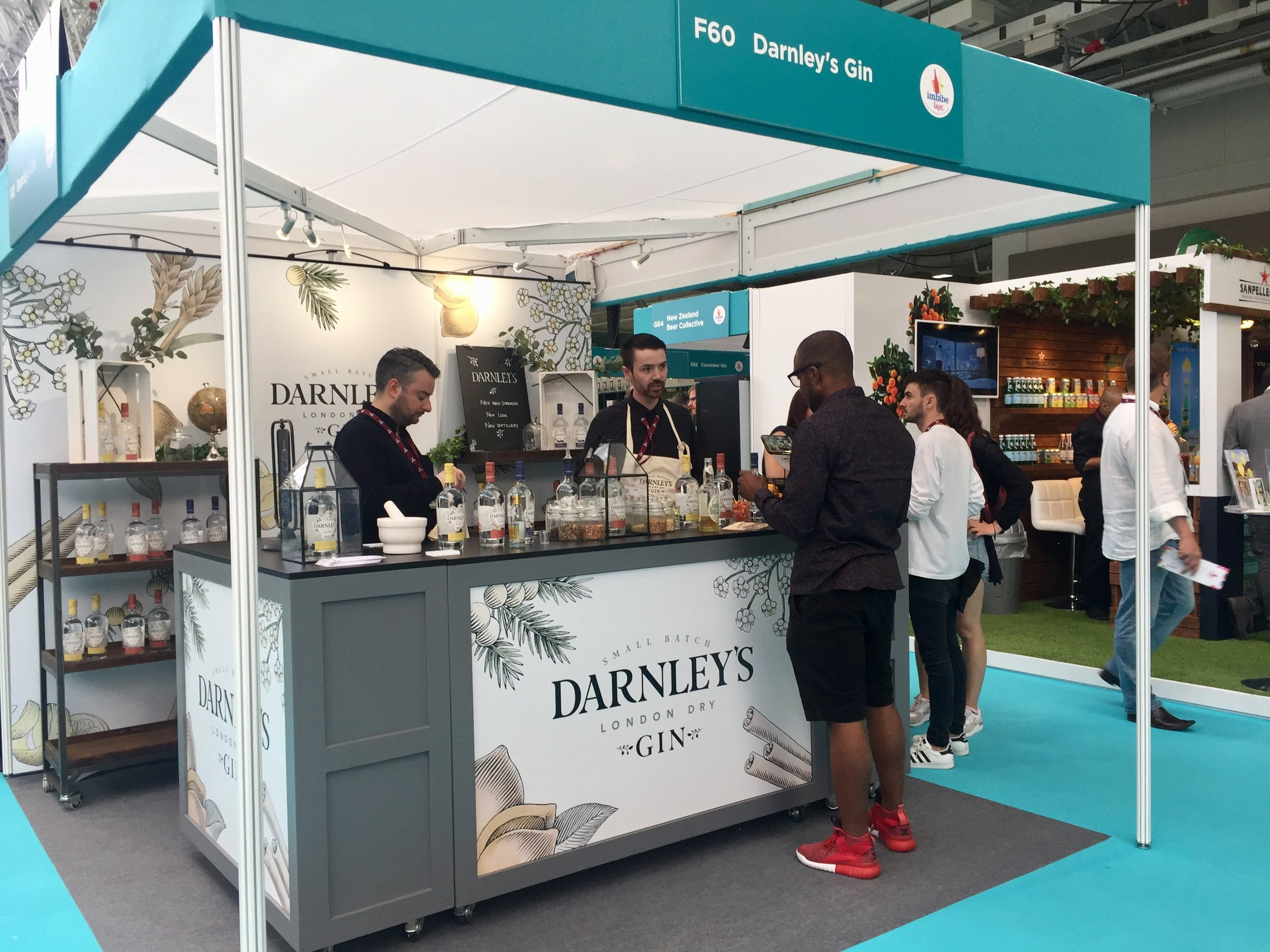 The Darnley's Gin stand we created for Imbibe Live 2017