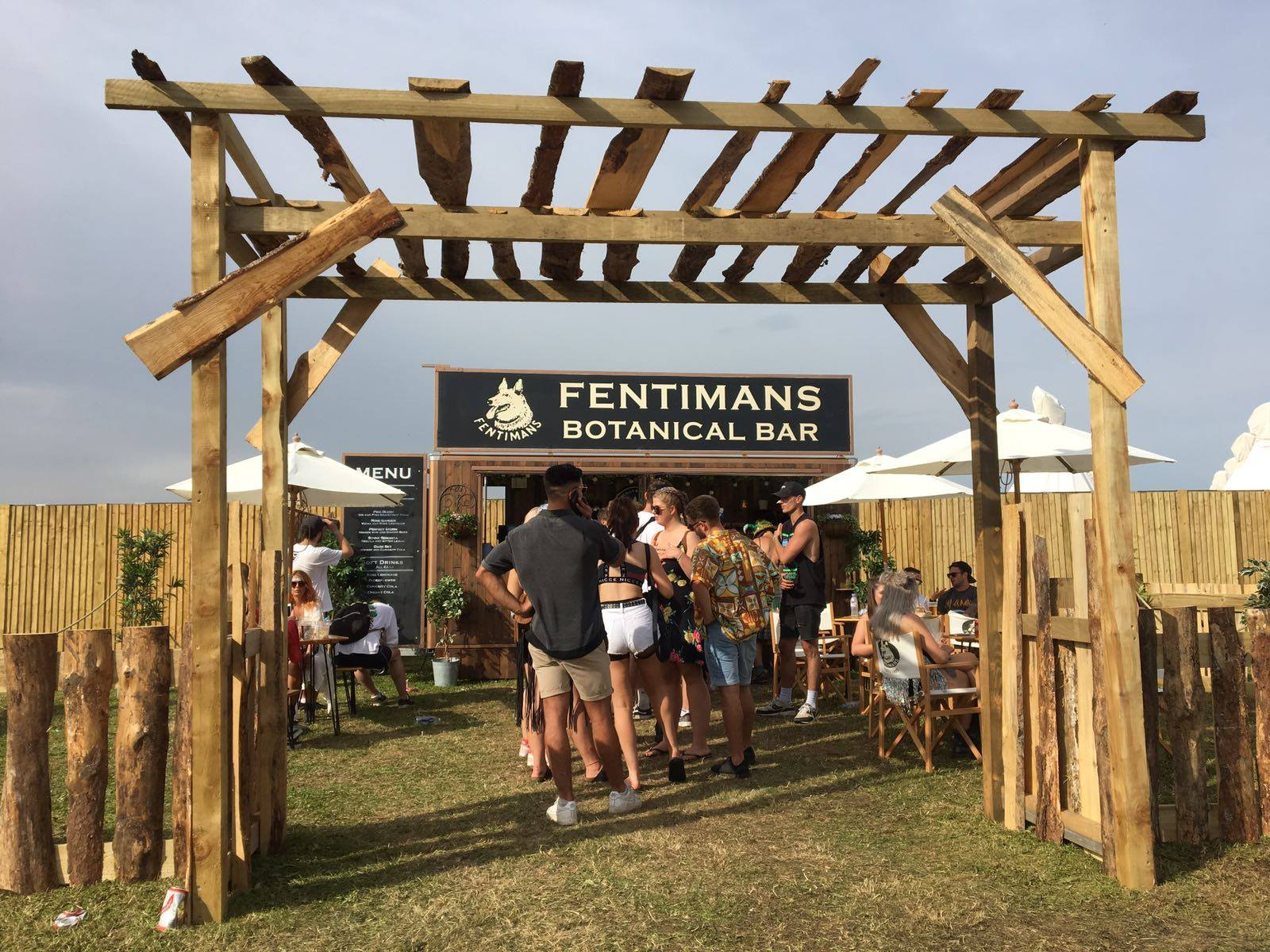 The Fentimans Botanical Bar we designed and built last year, at Lost Village Festival 2017
