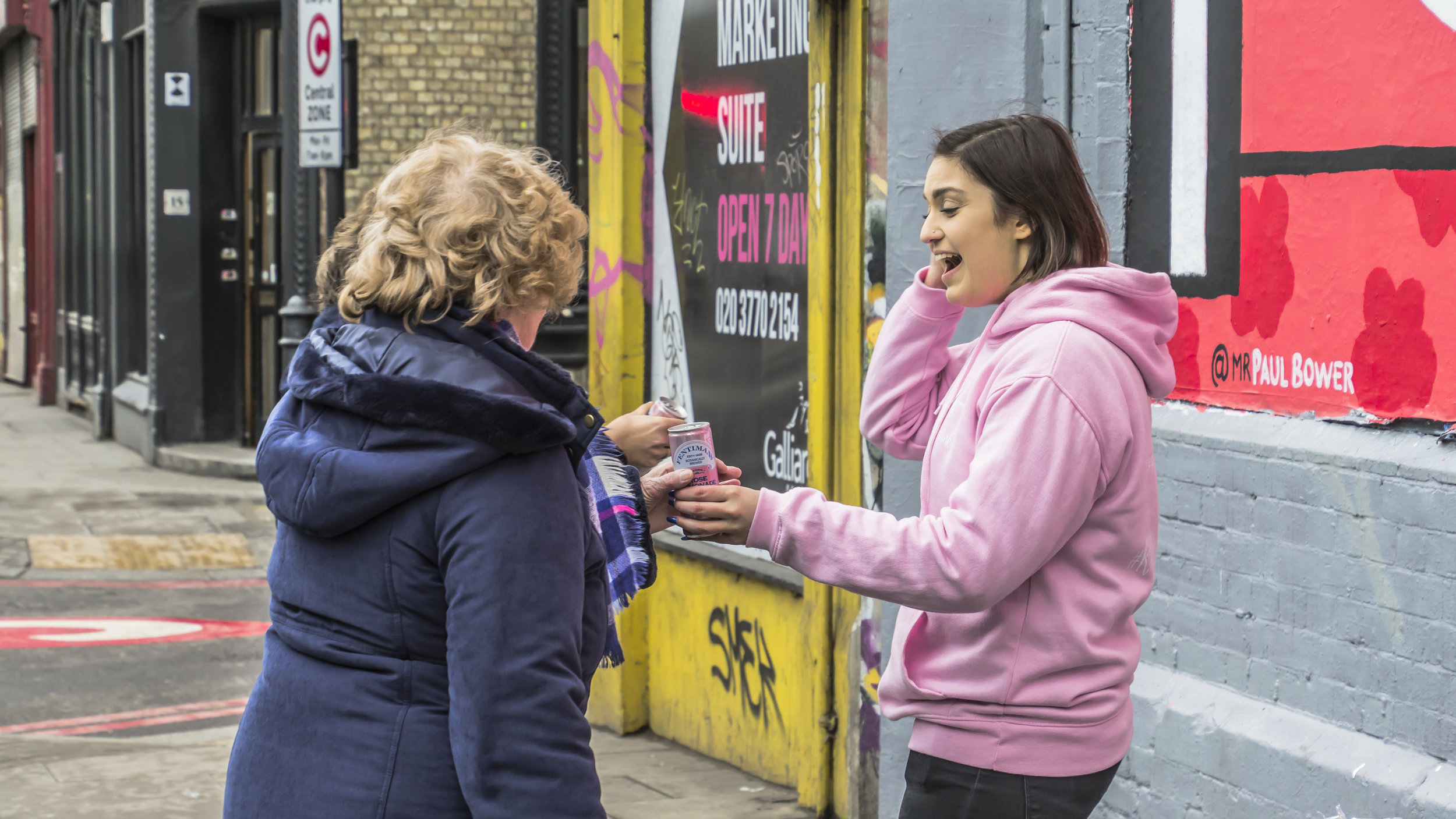 Fentimans Shoreditch Sampling Rose Lemonade by Quirky Group Brand Ambassadors