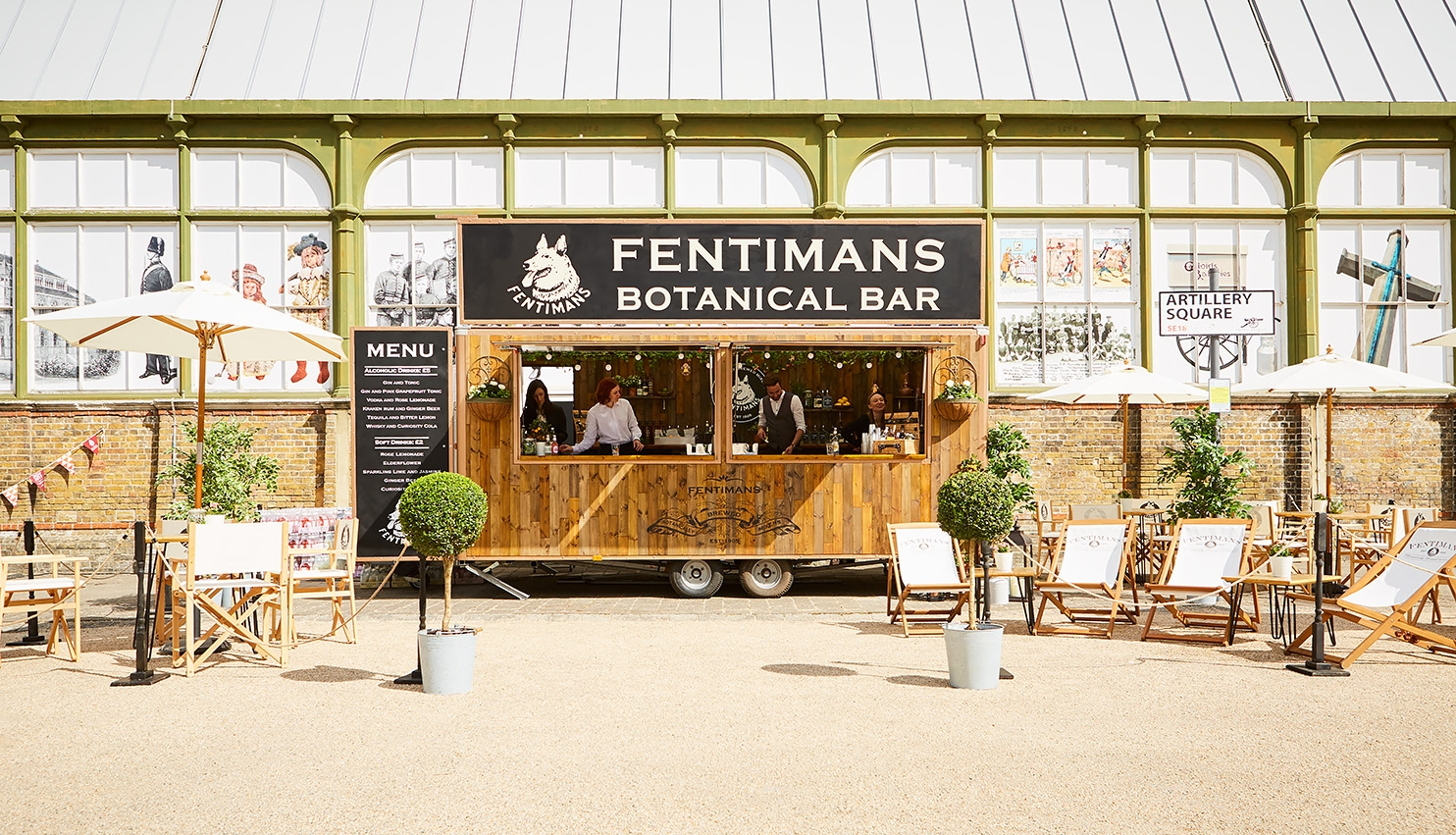 Fentimans Botanical Bar at Event - Quirky Group Mobile Bars and Event Management