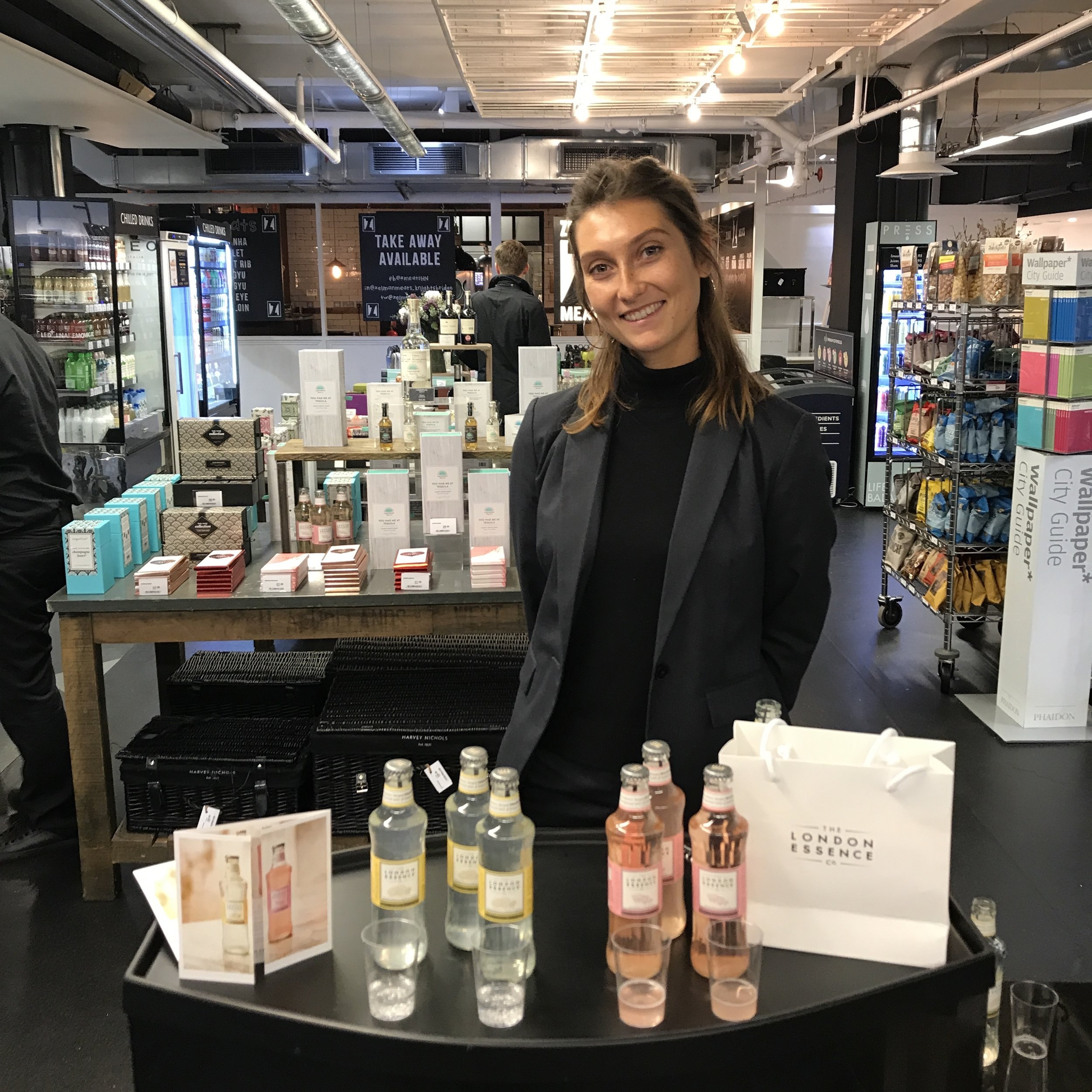 Quirky Group Brand Ambassador product sampling at Harvey Nichols