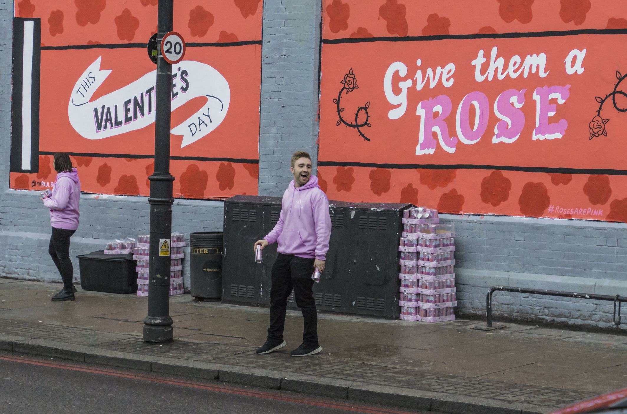Fentimans Shoreditch Sampling with Quirky Group Brand Ambassadors in front of mural