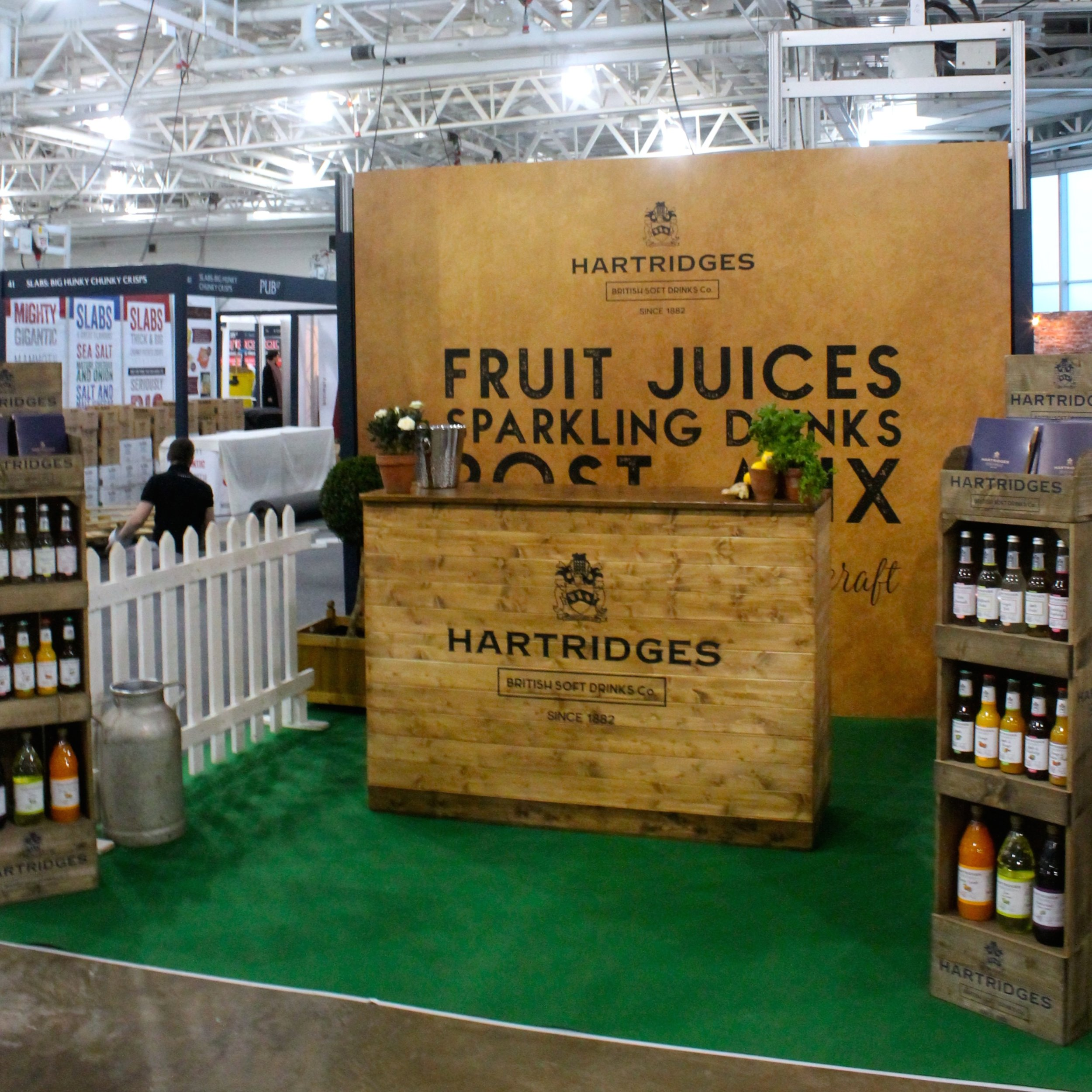 Hartridges2 Pub17 Trade Show exhibition stand - built bespoke