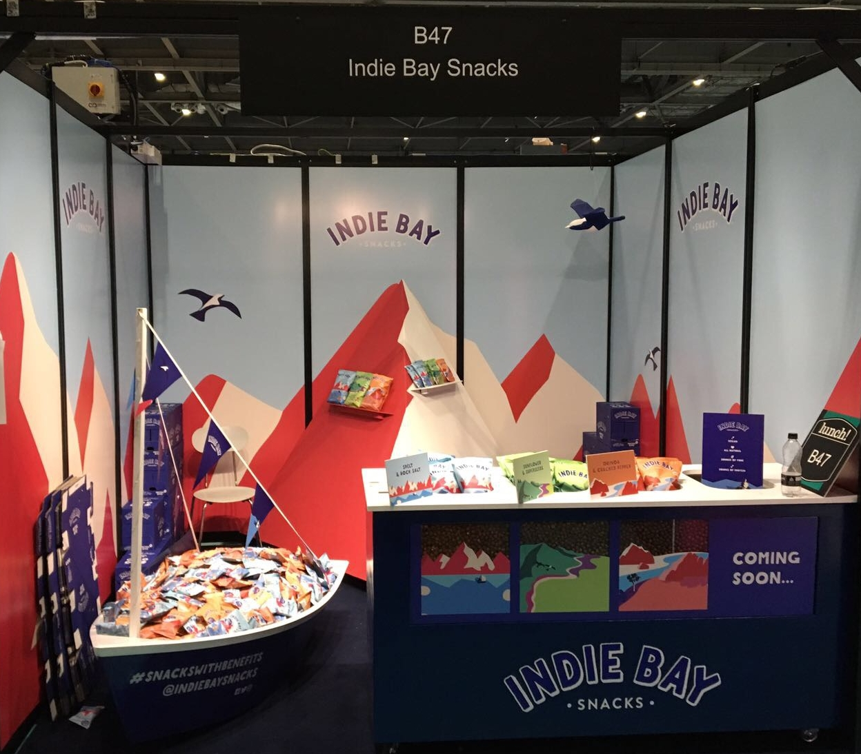 Quirky Group Indie Bay Trade Show Stand built for the exhibition