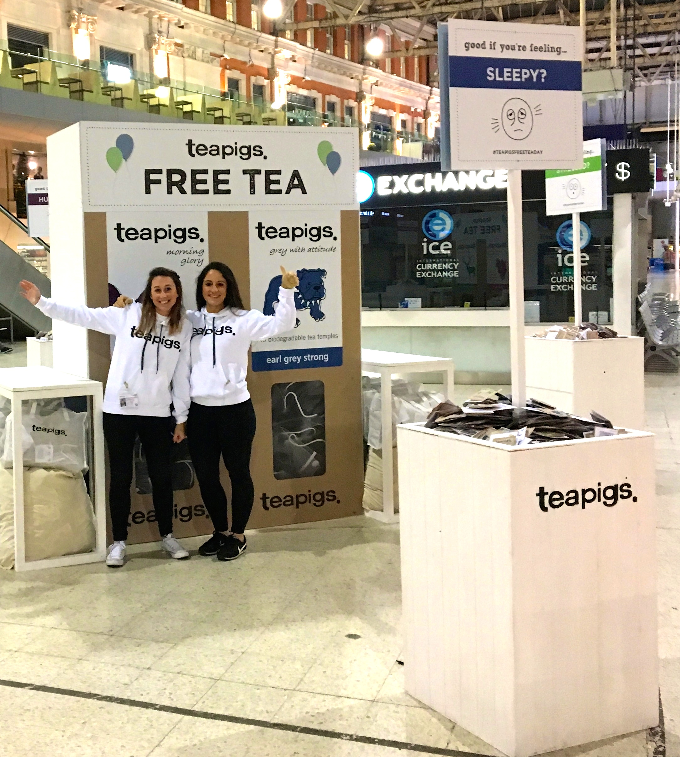 Teapigs_sampling station at Waterloo station