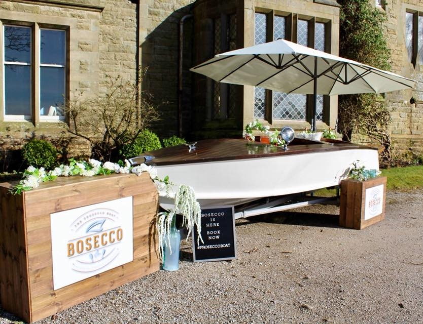 Quirky Group - Bosecco Prosecco Boat Bar designed & built beespoke