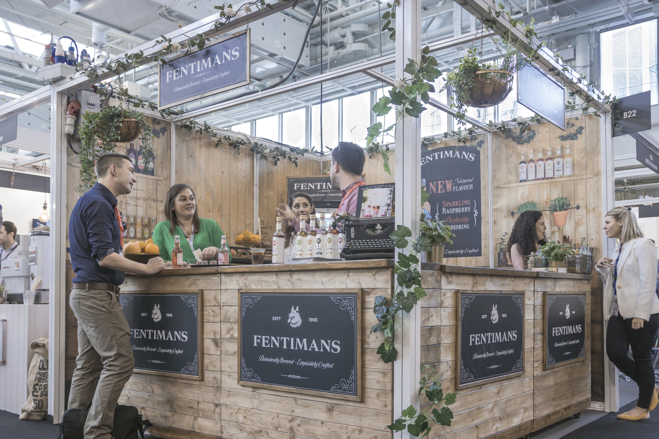 Fentimans Trade Show Setup - bespoke exhibition stand