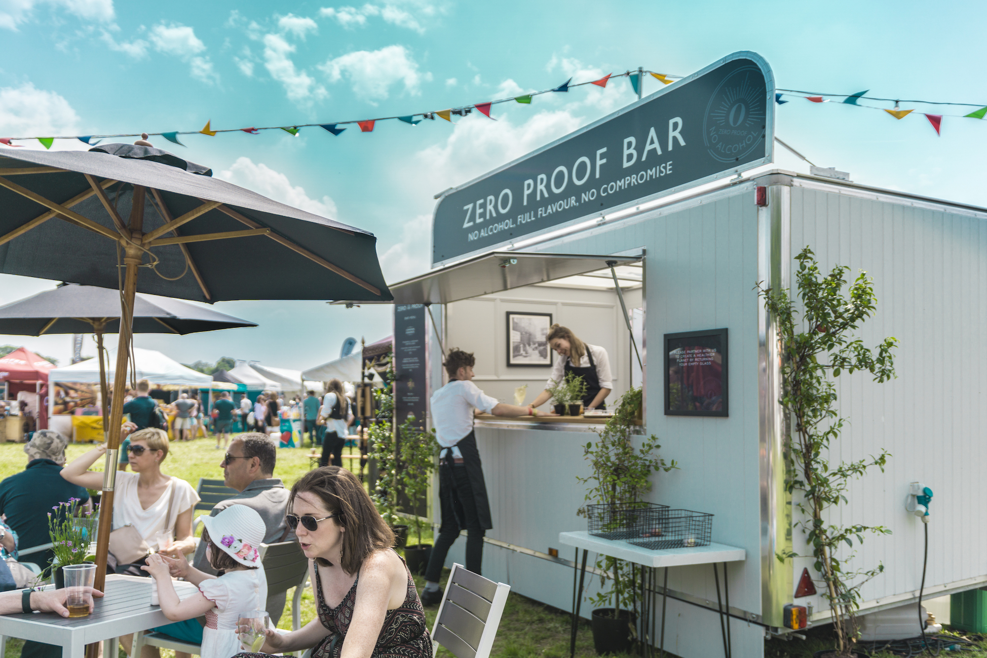 WiseHead Productions Quirky Group Brand Ambassadors in Mobile Bar for Foodies Festival in Syon Park