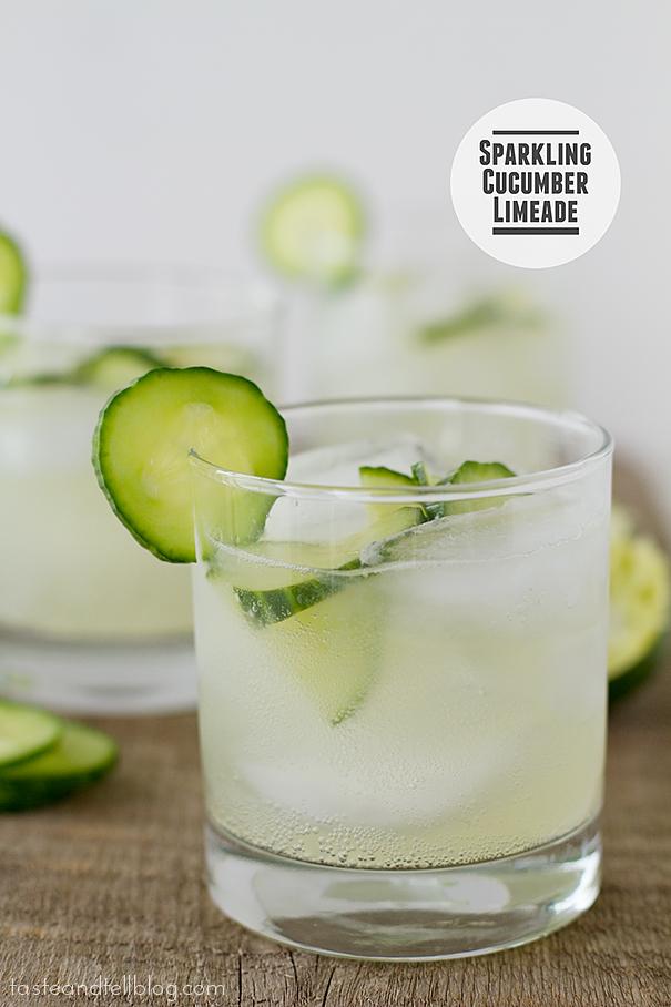 Recipe and image:    https://www.tasteandtellblog.com/sparkling-cucumber-limeade/