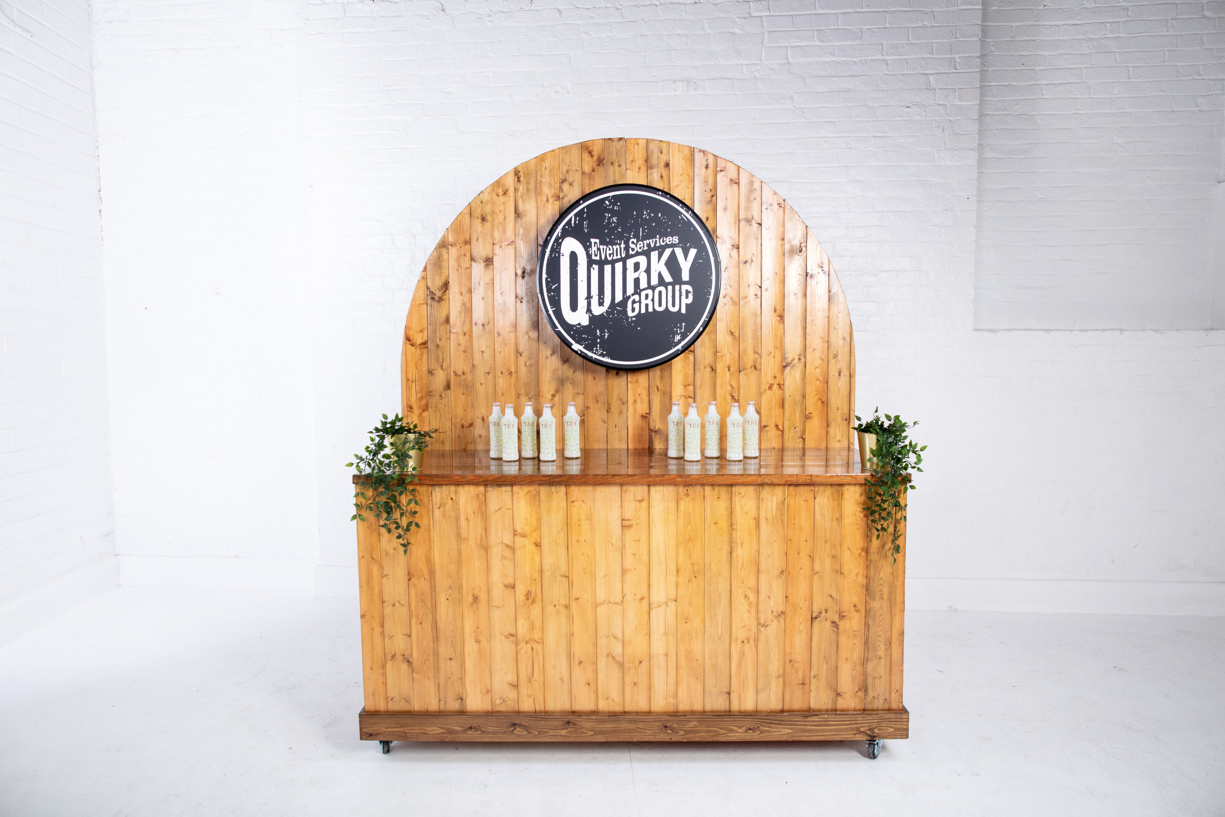 Quirky Group Six Foot Bar large display unit to rent