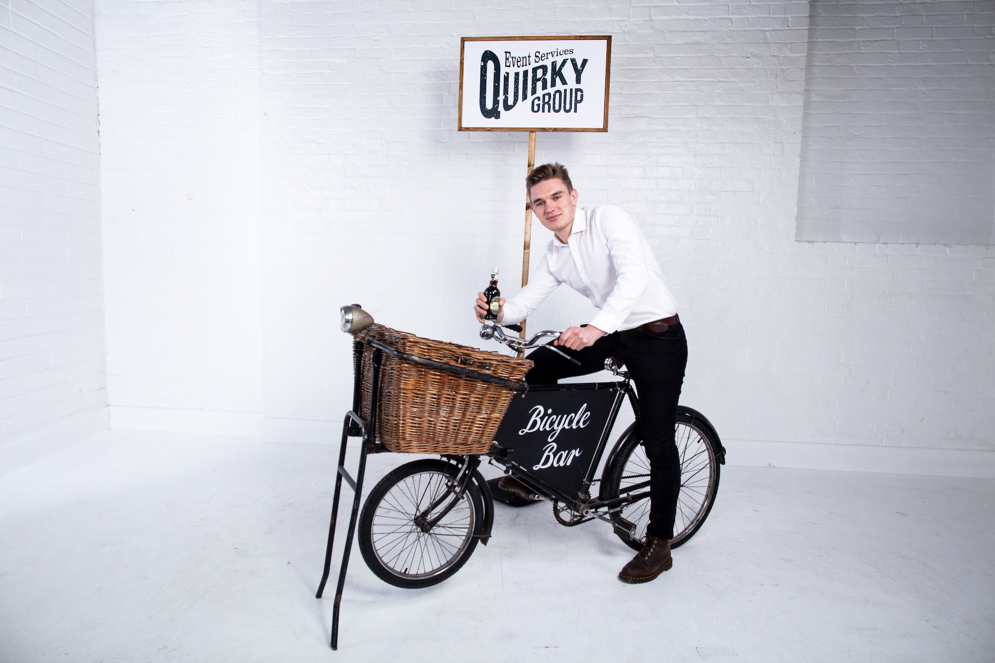 Quirky Group Vintage Bicycle Bar for hire