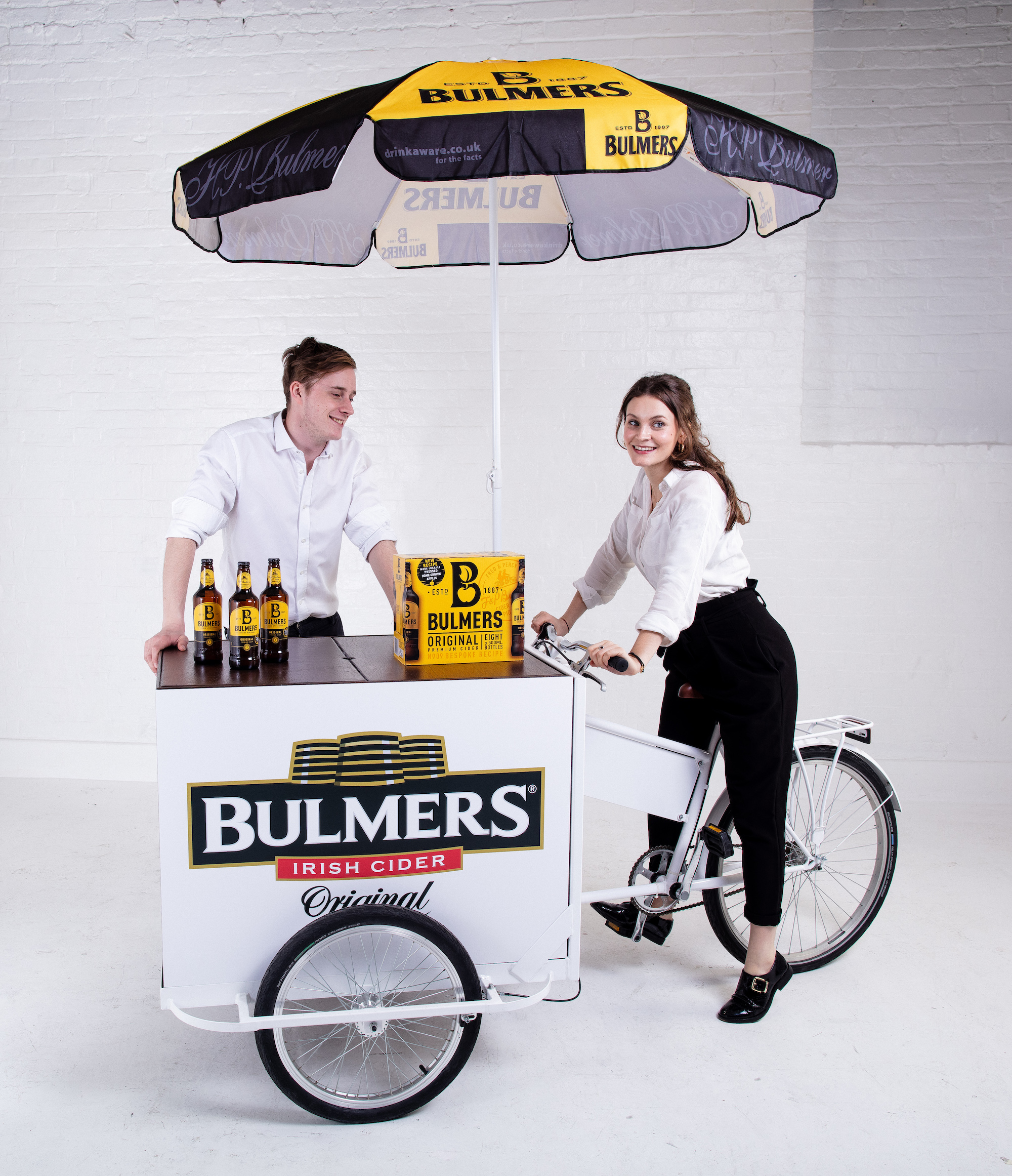 Quirky Group Cargo Trike Bulmers Branded with Staff.jpg