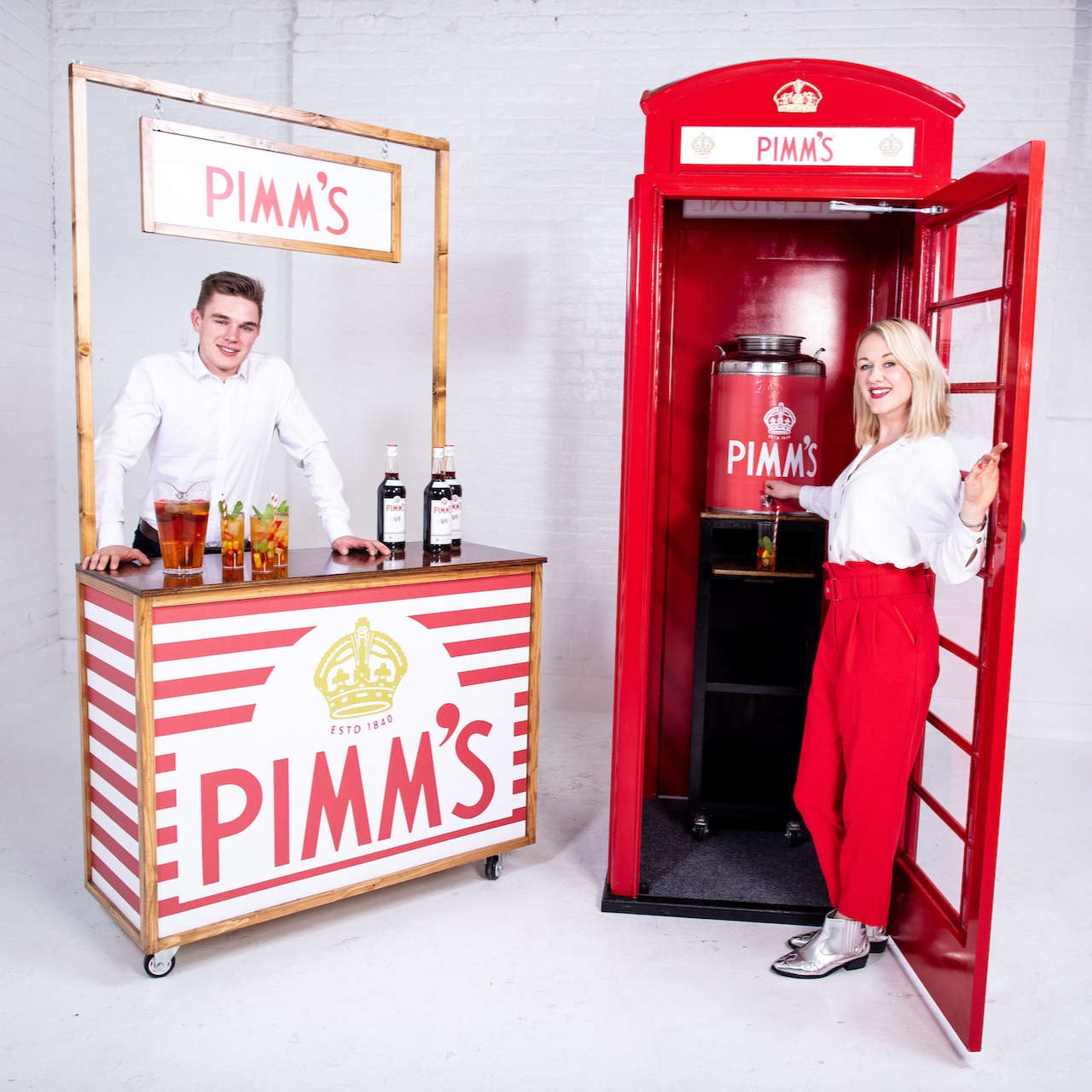 Quirky Group Pimm's Phone Box and Brand Ambassadors