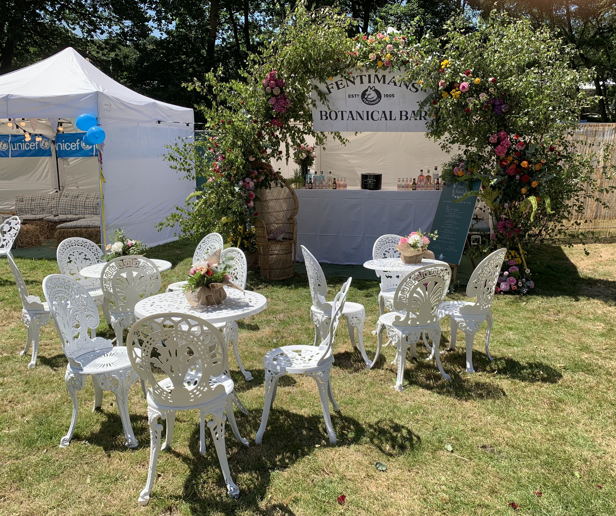 Quirky Group Floral Installation at House Festival for Fentimans