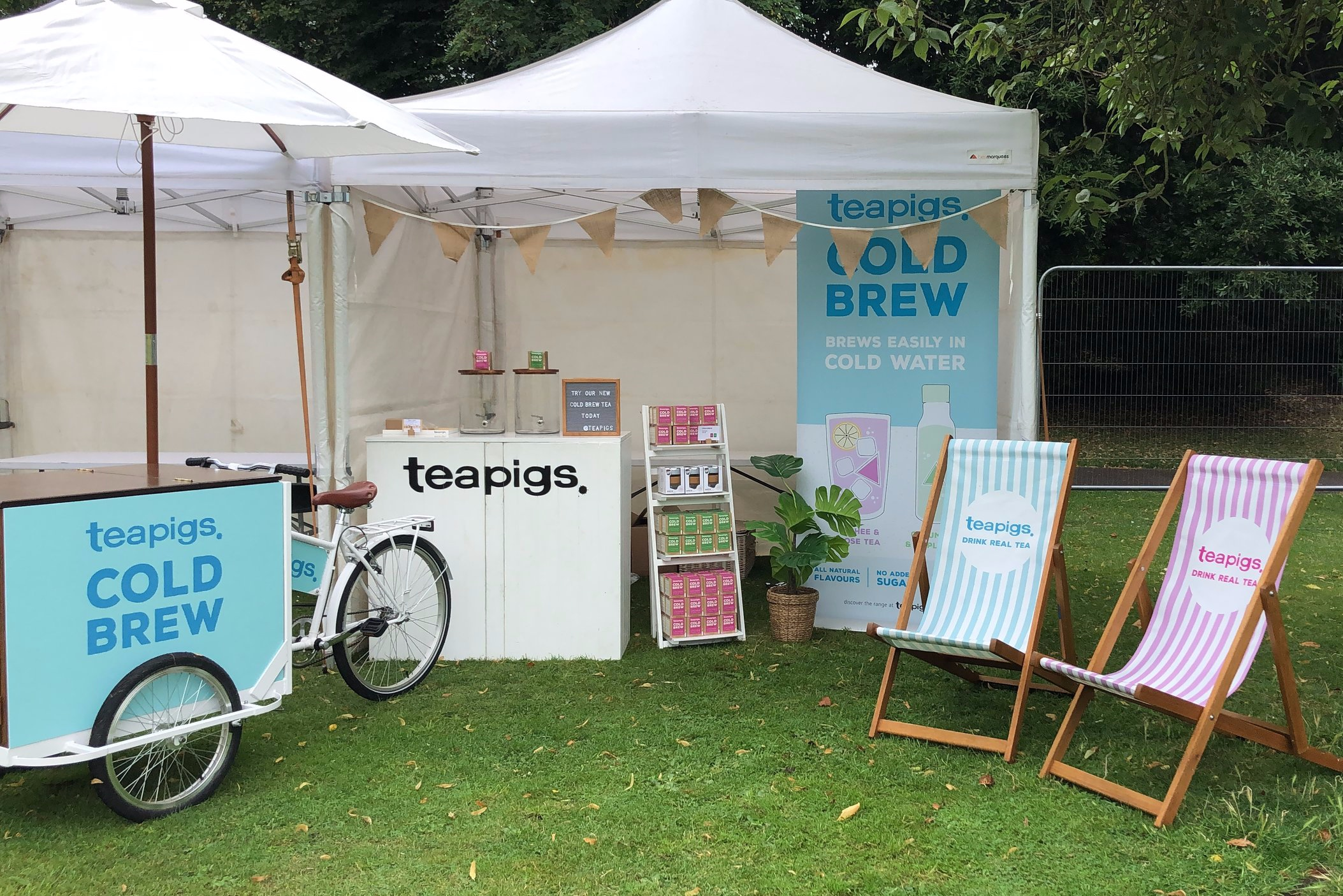 teapigs at Wanderlust Festival - Quirky Group Tricycle and Bar Unit