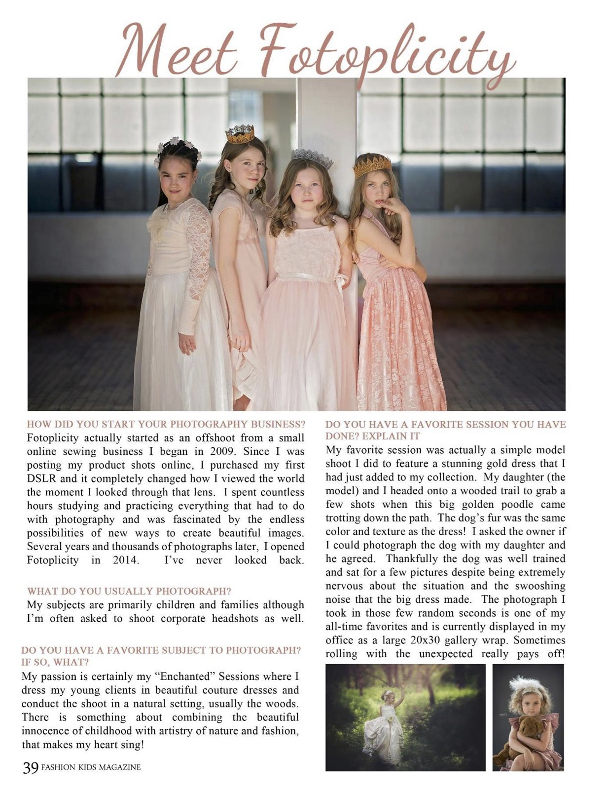 Young Fashion Kids Interview