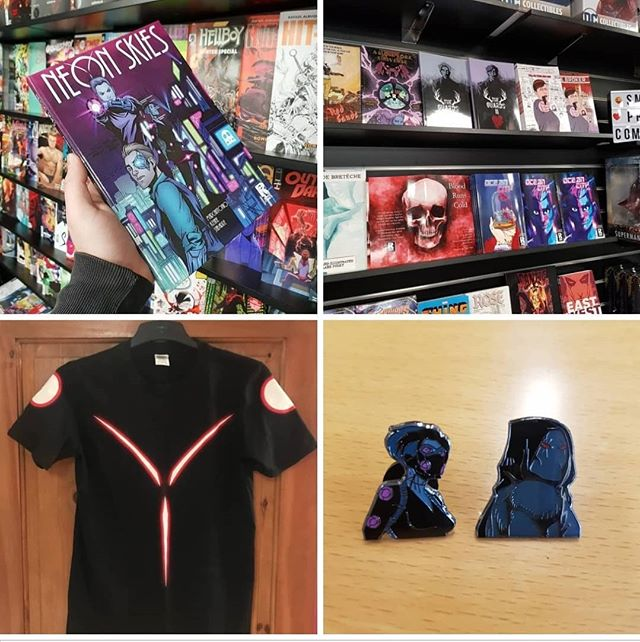 It's (a slightly later) New Comic Book Day! The first #NCBD of 2019. Why not help yourself to a new years treat in our online store?  https://www.roguecomicsireland.com/roguecomicbooks/  We have comics, graphic novels, t-shirts and enamel pins from some of the best creators in Ireland. Best of we ship worldwide! Tell your friends and help them #GoRogue in 2019.  #NeonSkies #RedSands #AClockworkUniverse #TheGuards #TheBroker #LaGrandeBretêche #BloodRunsCold #OceanCity #CruelSunset #RoguesGallery #RogueComicsIreland #RogueNation #GraphicNovel #Comics #IrishComics #IndieComics #MakingComics #Writer #Artist #Colourist #Letterer #Editor