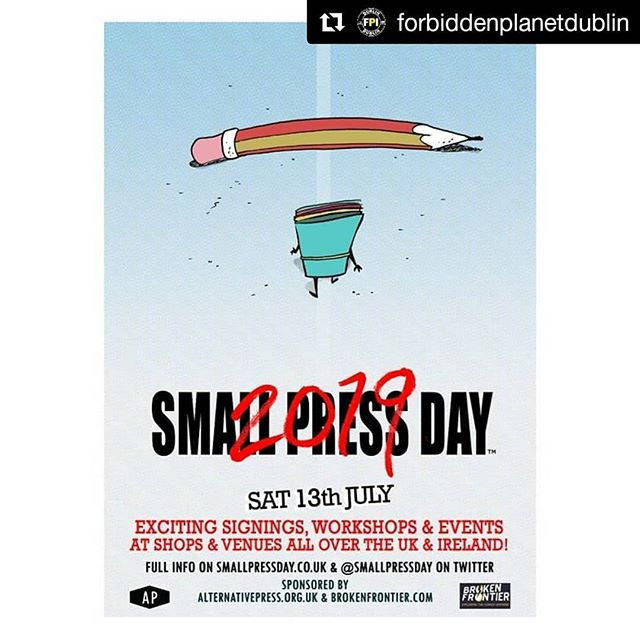 #Repost @forbiddenplanetdublin (@get_repost) ・・・ #SmallPressDay 2019 has an official date - Who's excited to see what we've got up our sleeve this year?  We'll announce more details and open up table applications once we source a venue, as I'm sure you've heard by now that the home of Irish Small Press Day these past 2 years, The Fumbally Exchange, is sadly no more.  We'll keep y'all in the loop though!  Give this pic a like if you support Irish and other independent Comic Book Creators ❤️ - #forbiddenplanetdublin #forbiddenplanet #forbiddenplanetinternational #dublin #ireland #SmallPressDay #independentcomics #diycomics #indiecomics #spd #SmallPressDayDublin