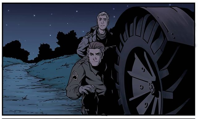 Howdy folks!  Here is a special preview of #Nazferatu which is currently being worked on by Wayne, Kevin and Gillian.  Due to be released later this year, Nazferatu is a vampire story set against the backdrop of World War 2.  Written and Coloured by @waynetalbot37 , with art by @kevinkeane24 , and edited by @gillzebub  Stay tuned for future updates and please feel free to share.  #GoRogue #RogueComicsIreland #Nazferatu #ComicBooks #Vampire #WWII #IrishComics #IndieComics #WorldWar2 #Nosferatu #Vampyre #HorrorComic #Horror