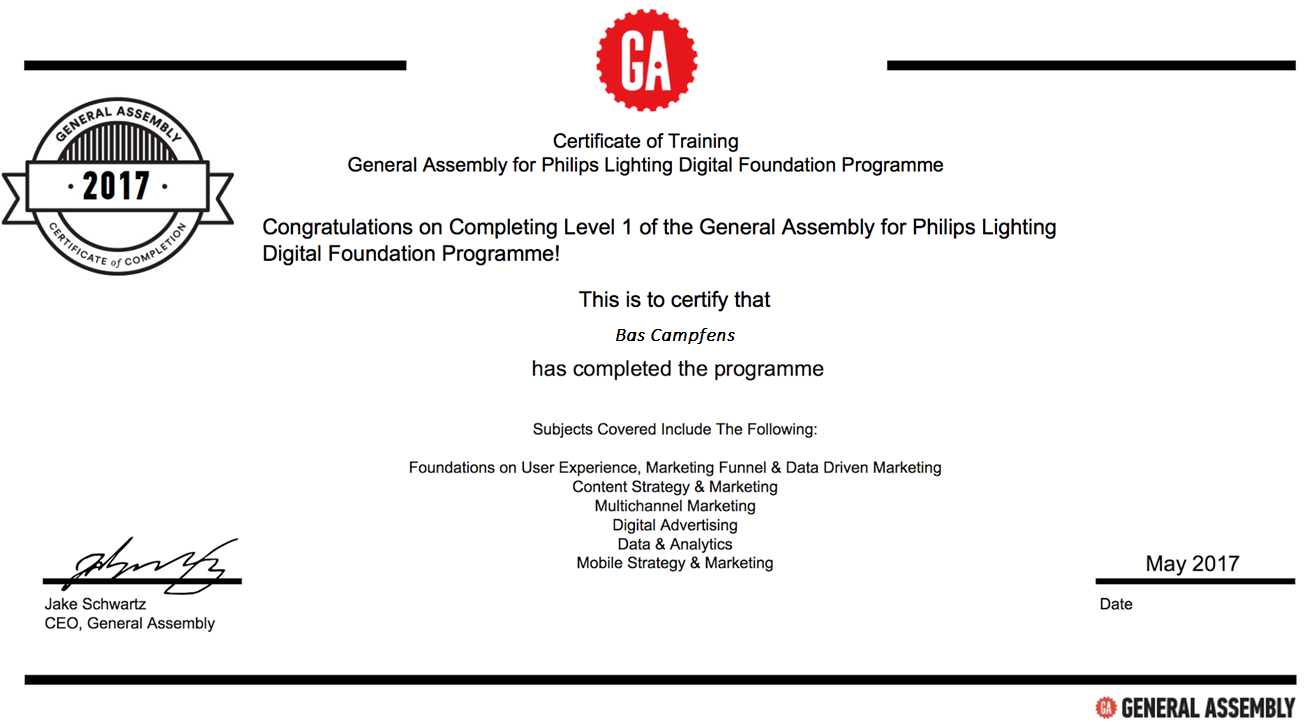 General Assembly Digital Foundation Program