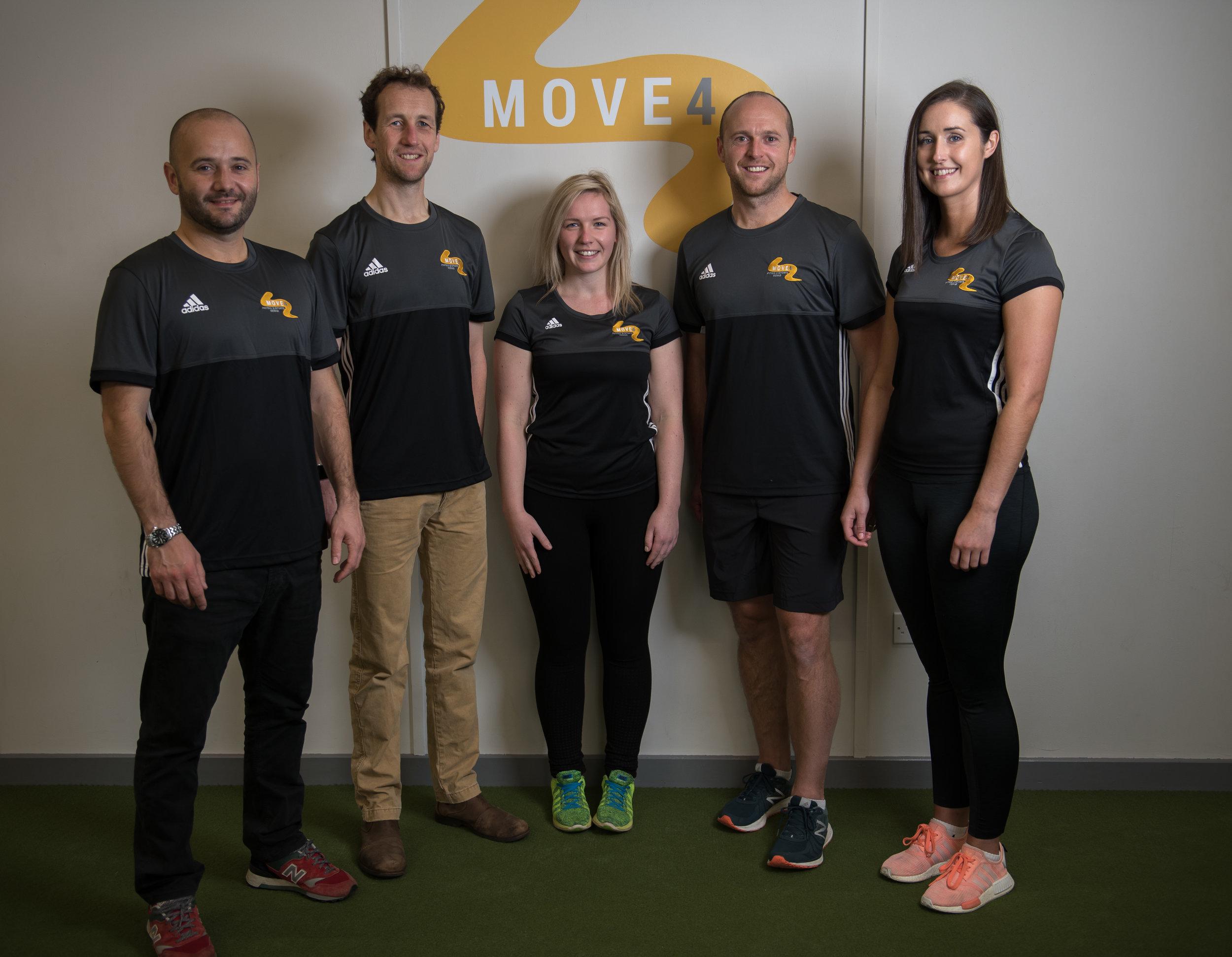 The Move4 Physio Northampton Team