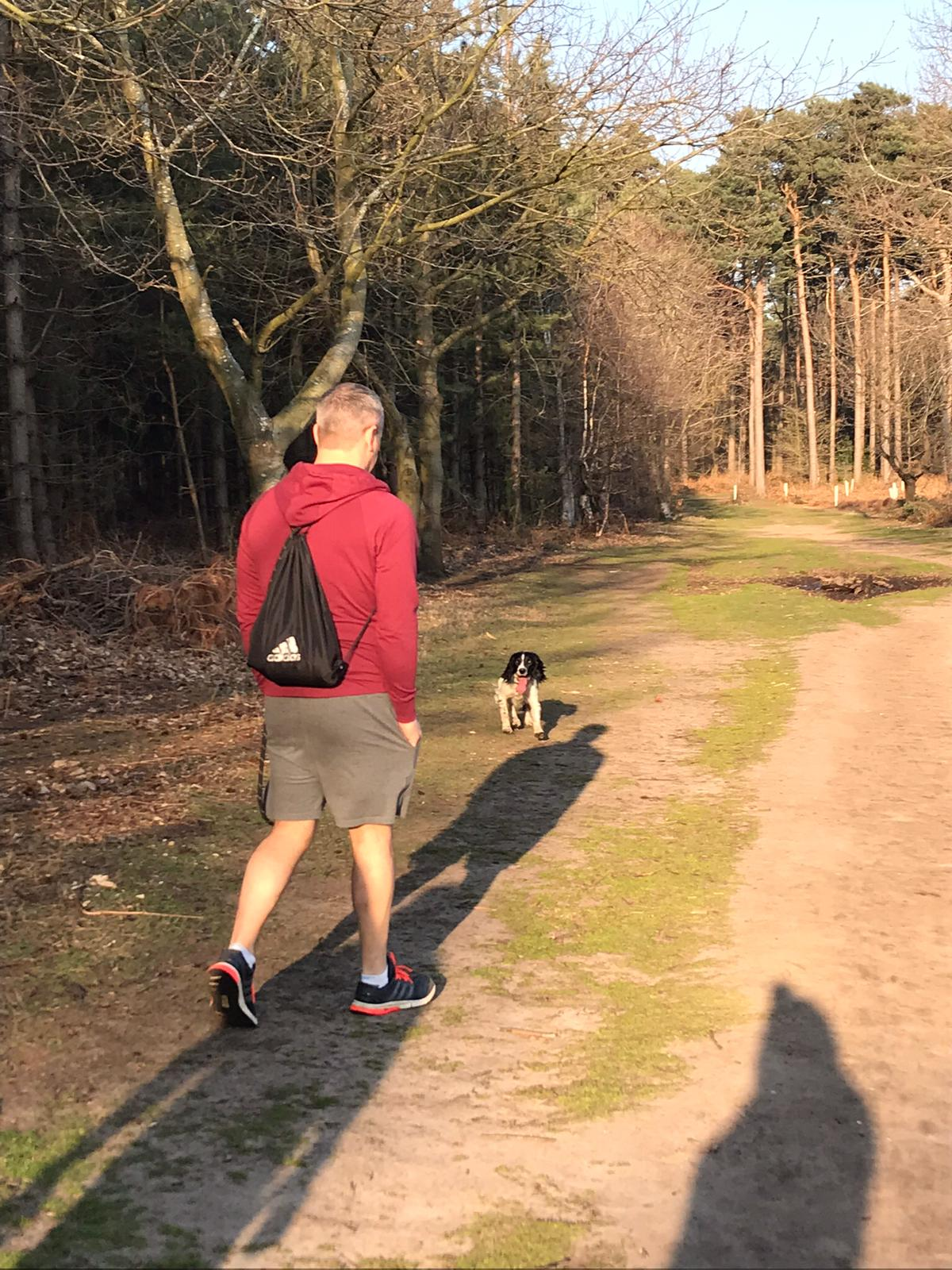 Andrew Burrows dog walking Move4 Physio Northampton