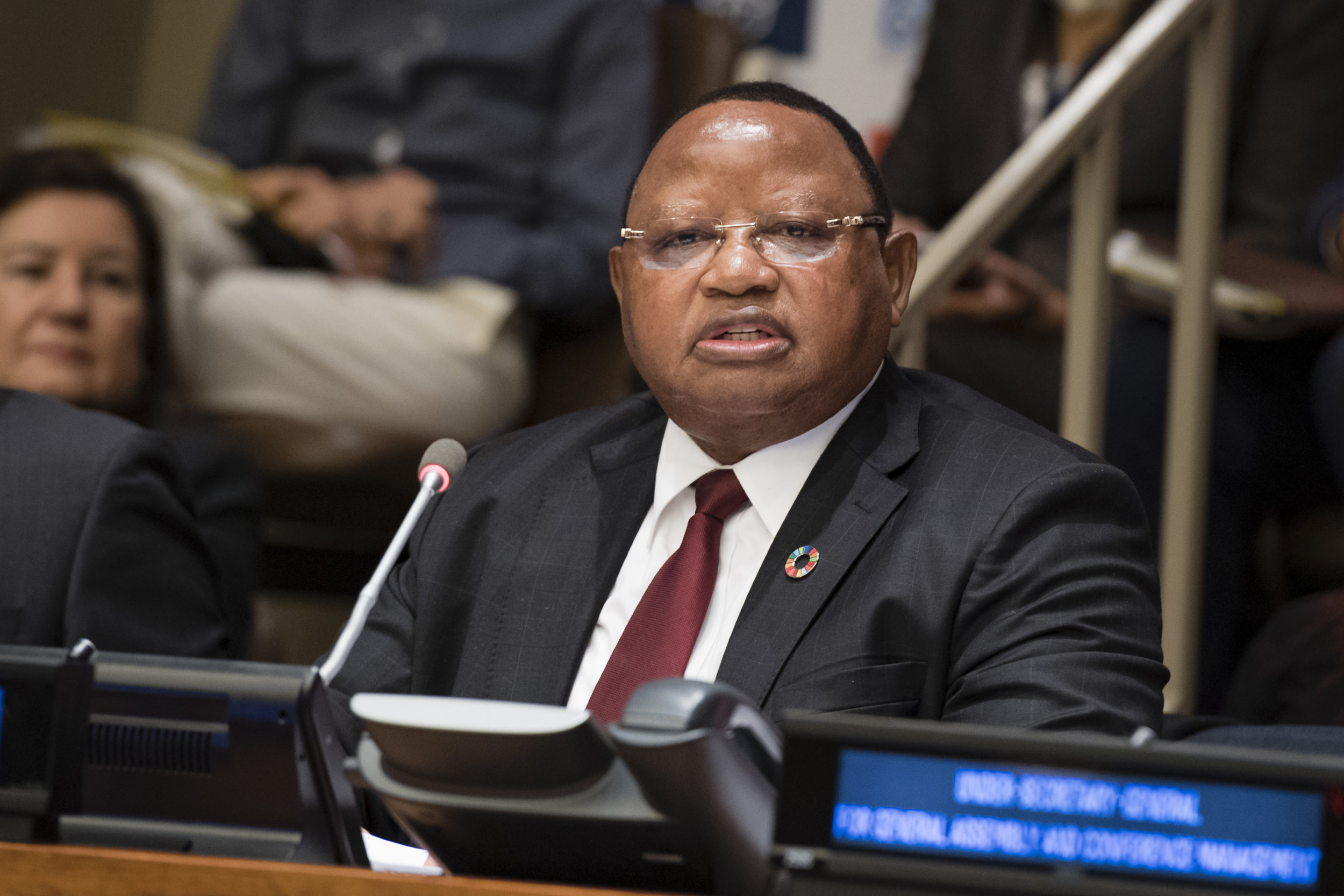 Frederick Musiiwa Makamure Shava, President of the Economic and Social Council, makes remarks during the opening of the Ministerial segment of the High-Level Political Forum on Sustainable Development. Photo courtesy of UN Photo.