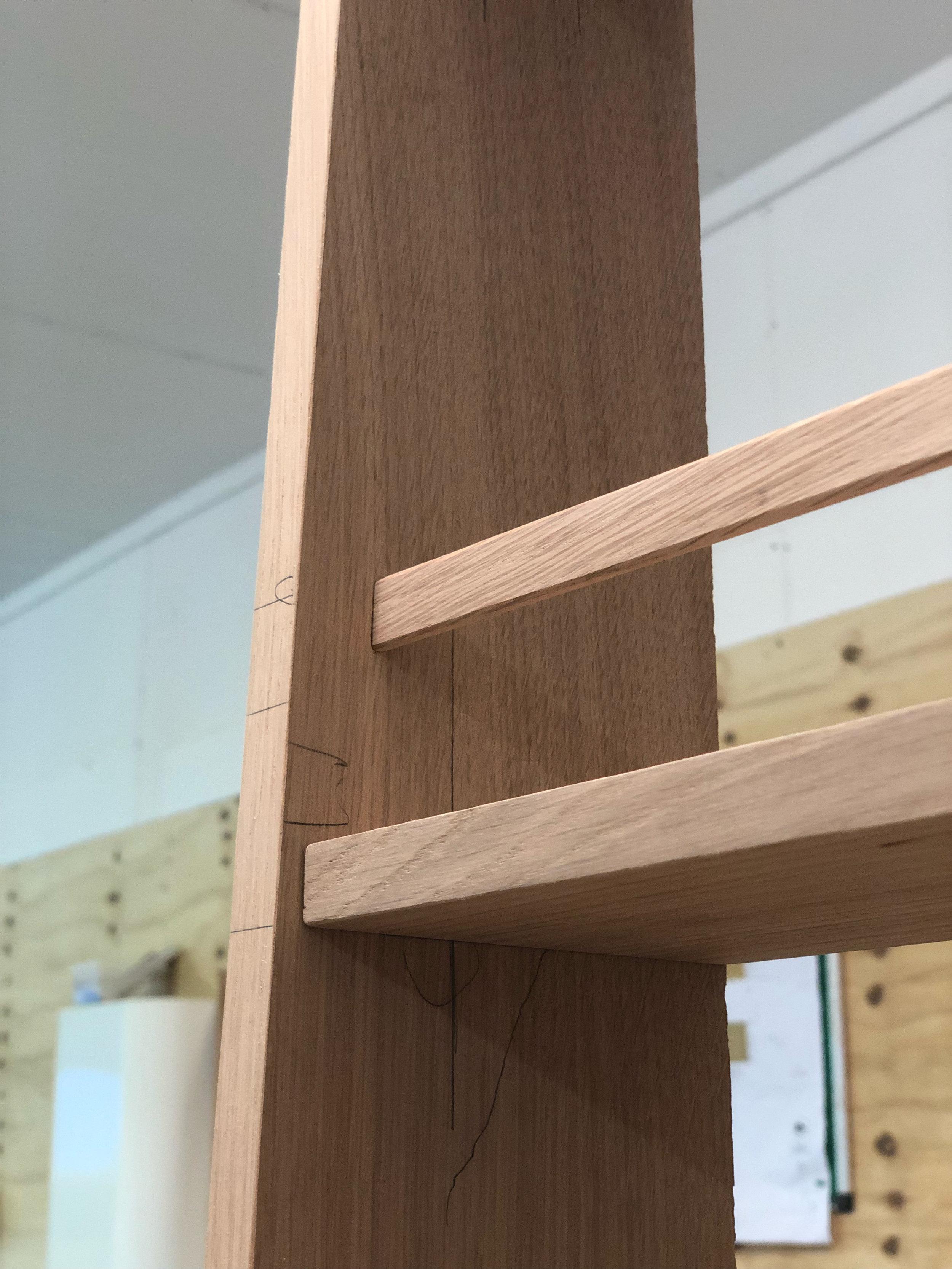 Solid Oak Larder Rack 01
