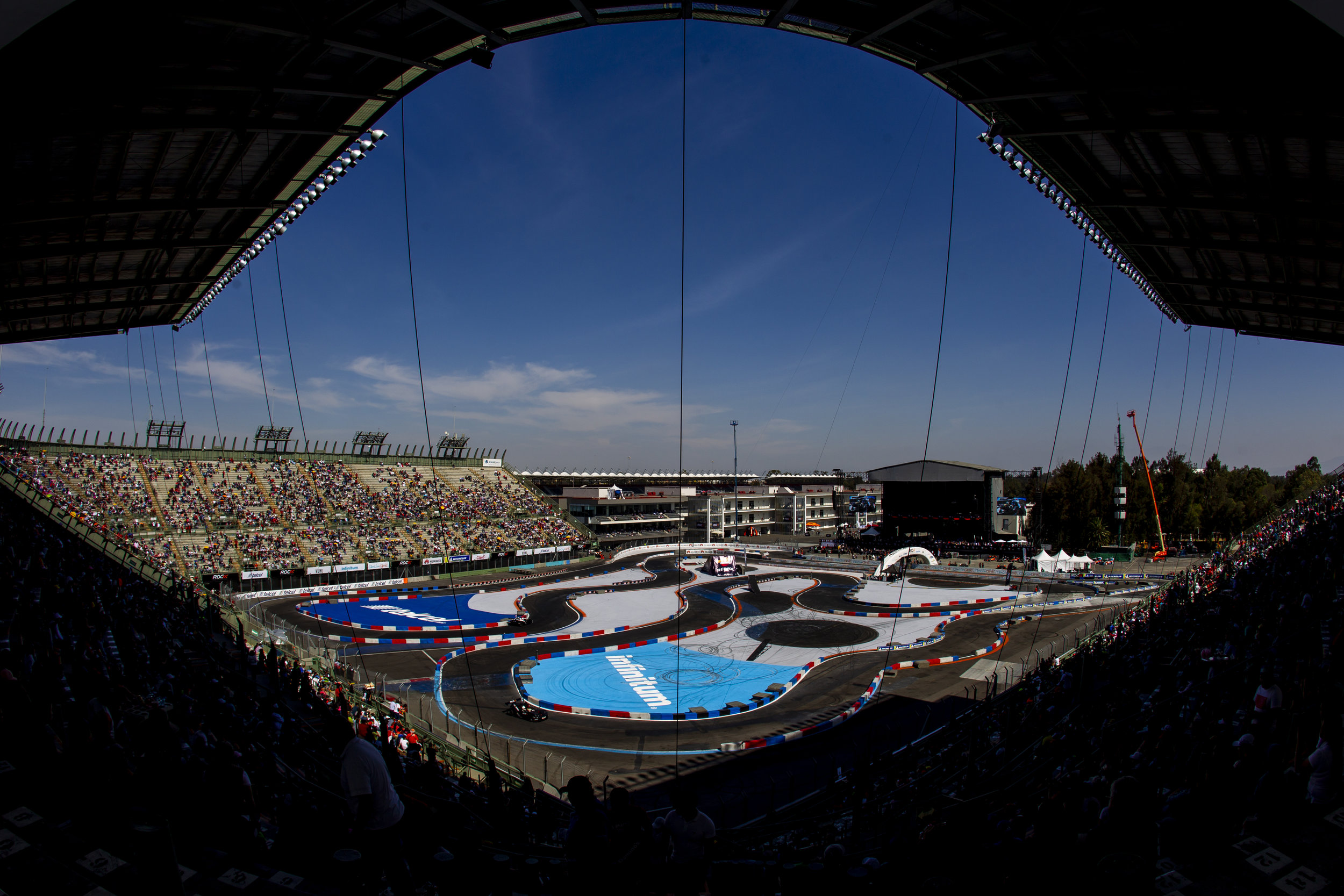 A view of the Foro Sol Stadium in Mexico City, Mexico, the host circuit of Race of Champions (image courtesy of ROC).