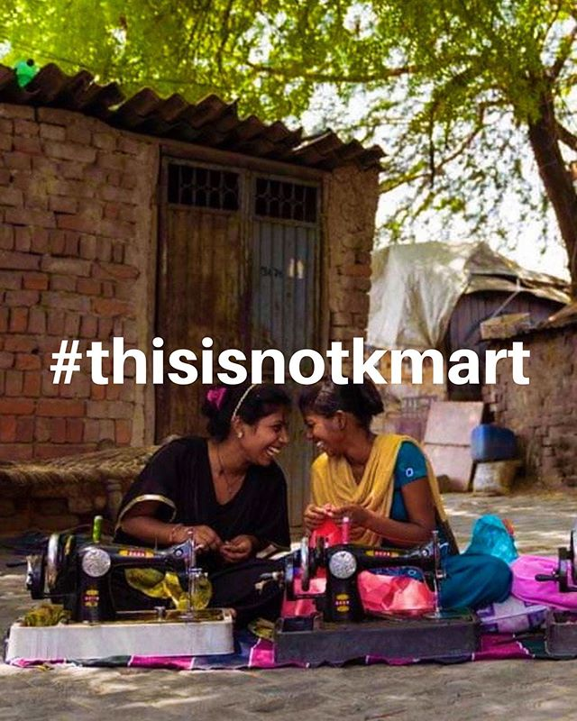No this is certainly not Kmart.🛍🛍 This is the Slum of Faridabad, Delhi in India.🏏 This is where I realised you didn't have to fill your house up with crap from Kmart to feel as happy as these girl friends do. 👯♀️ Consumerism sux, and it's crazy to think how much we spend on items that go into landfill polluting the earth. The fashion industry is a big part of the problem and big corporations are able to cash in, making a huge profit.  This cycle sux!....🤦🏽♀️ The poor need a job,  Company exploits this need,  Factory labor is unforgiving, Consumers buy the product and  The company boss rolls his naked body in the cash. 🙈 🌻🌻🌻@rise_the_label we are trying to do things a bit differently. The fabrics used are made in India by local artisans and the women sewing the garments are working from home with their friends, they are leaning new skills and enjoying contributing to their household income.  This whole operation is run by volunteers to ensure Rise the Community, charity projects become  self-sustainable, there is no factories, there are no corporations and there is no exploitation.🤲 🌅The sale of any @rise_the_label garment gets Rise the Community one step closer to self sustainability. No longer will they just be a charity asking for hand outs but a community finding their own education, healthcare and employment opportunities to their community in the slum ❤️ Help us provide equal opportunity by supporting Rise the Label and the Rise Community ✨