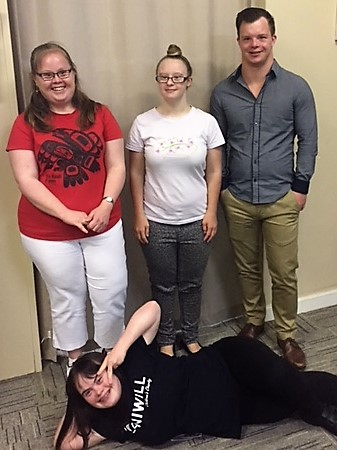 Current members: Claire Mitchell, Ruth Faragher, Michael Cox, Olivia Hargroder and Nikela Carrigan (not pictured)