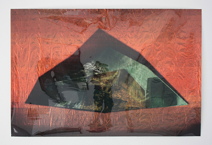 Igneous Amorphous, Scene 1   Digital print on acetate with space blanket, 152cm x 99cm, 2011