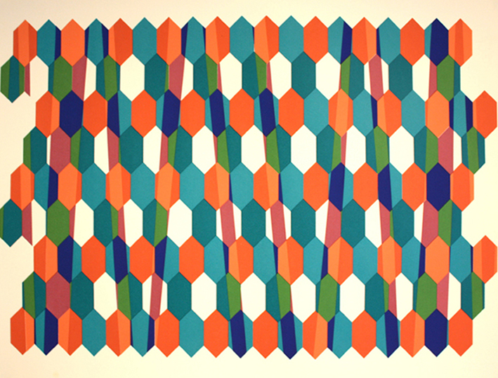 Concertine  Screen-print, 56 x 44 cm, ed.15, 2013