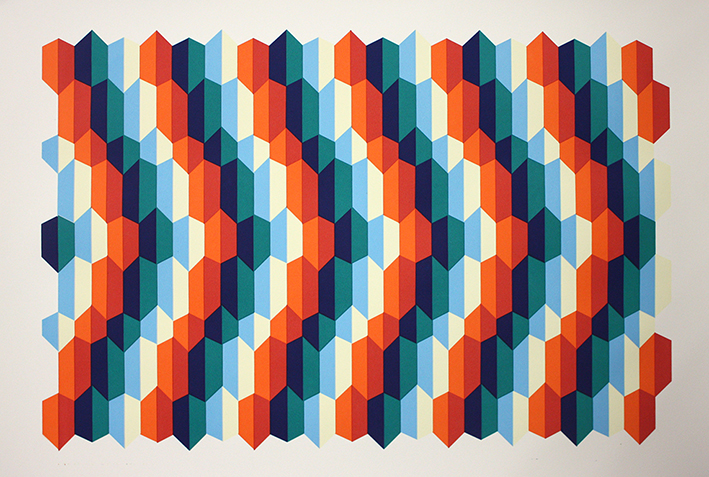 Ripple  Screen-Print, 70cm x 47cm, ed. 25, 2014