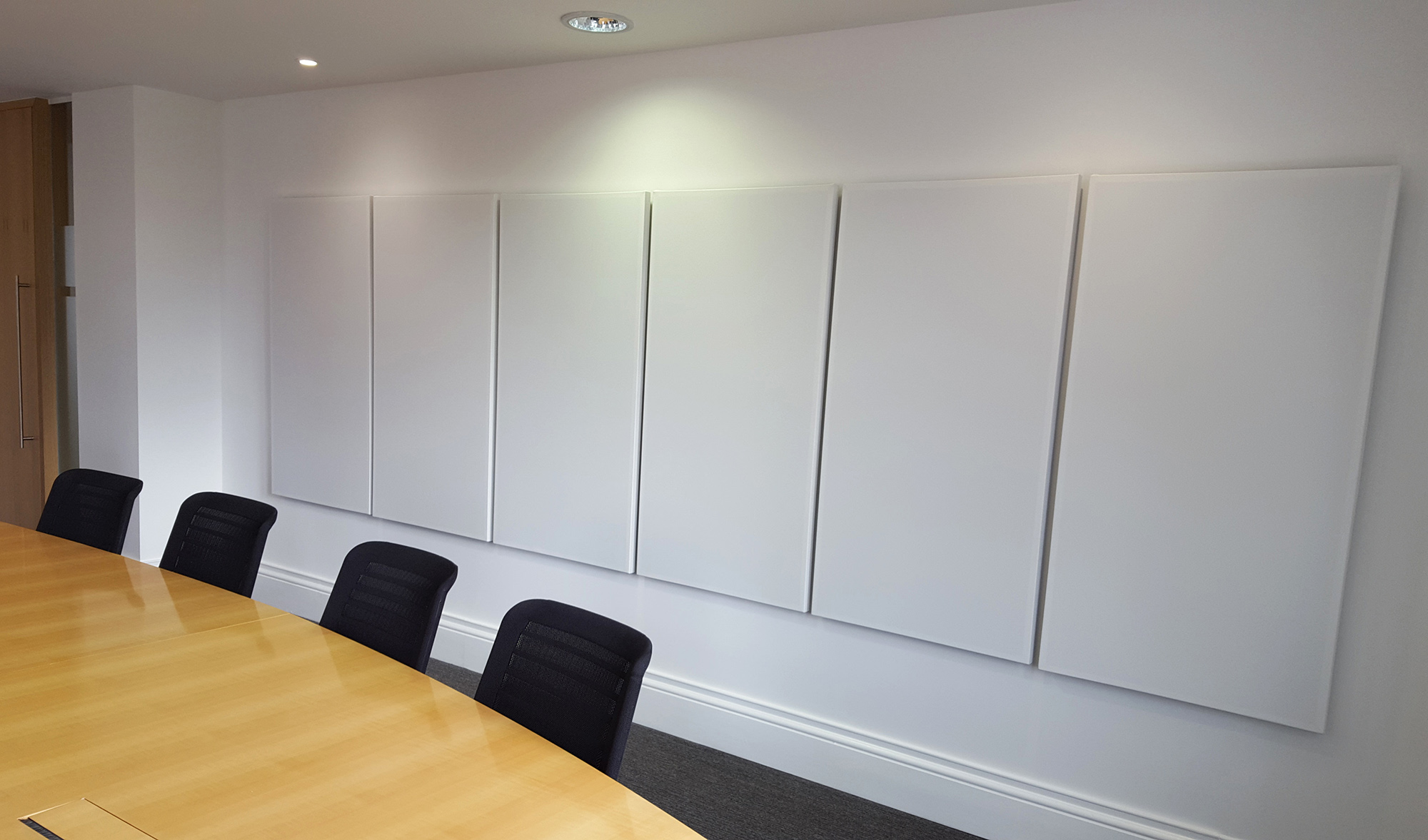White Acoustic Wall Panels
