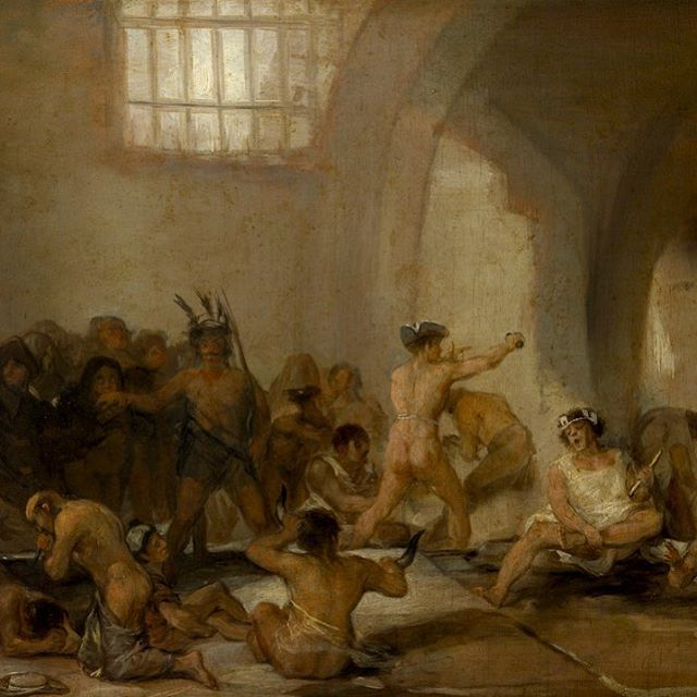 Francisco Goya - The Madhouse - 1812 . Art & Mind is showing this week in the USA, Korea, UK, Estonia, Italy & Netherlands. Tickets & info via art-mind.co.uk. . A journey into art, madness and the unconscious. An exploration of visionary artists and the creative impulse. . . . #artmindfilm #goya #franciscogoya  #museodelprado #19thcenturyart #michelfoucault #losdisparates #19thcenturypainting  #19thcenturyart #pinturas #nineteenthcentury #nineteenthcenturyart #artschool #artstudent #spanishart  #hieronymusbosch #bruegel #flemishpainting #flemishmaster #renaissance #pieterbruegel #outsiderartist #arthistory #artandmindfilm #arthistorian #storiadellarte #historiadelarte #histoiredelart #artdocumentary #artfilm